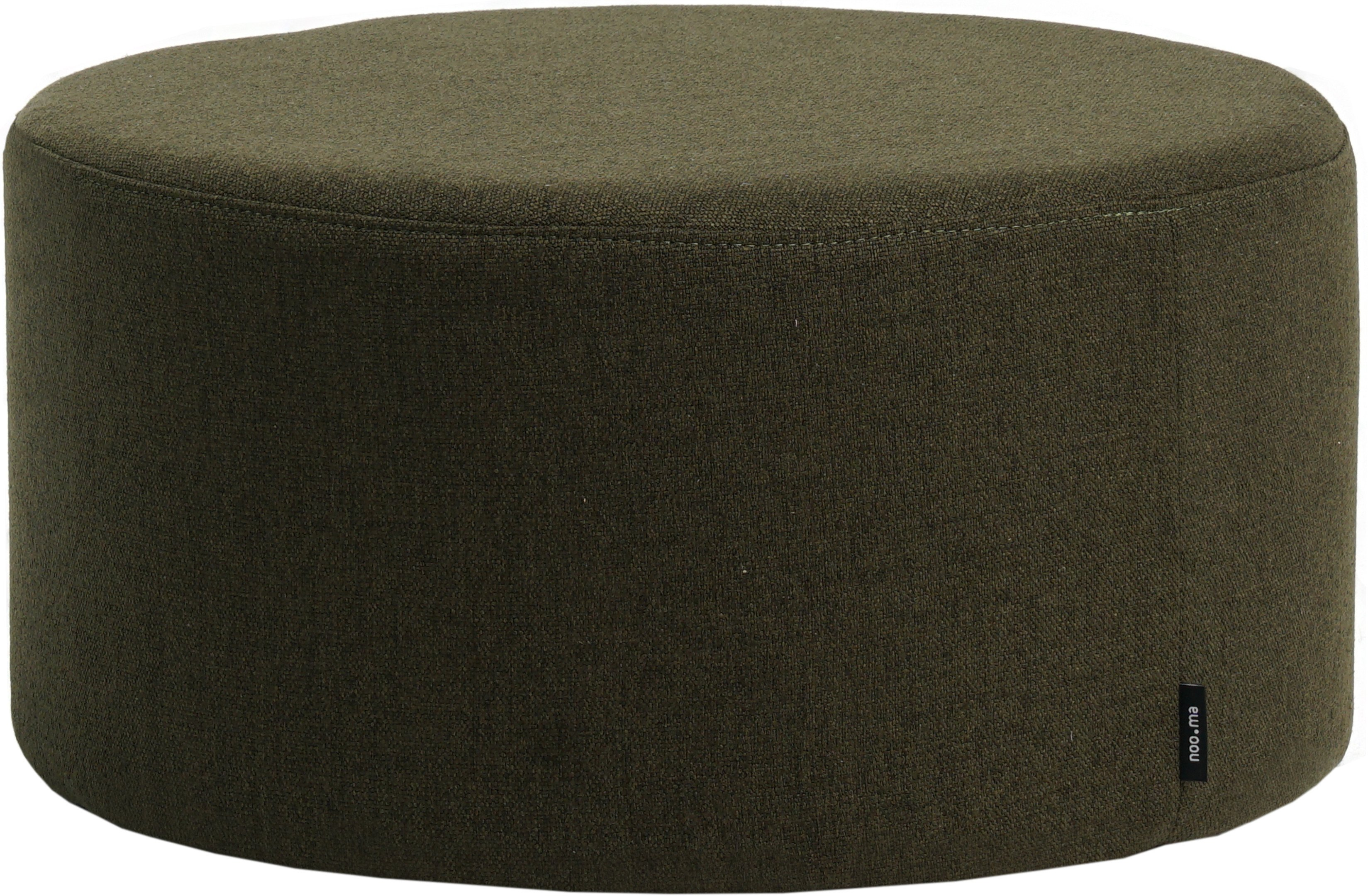 Folk Pouf Dark Green Low, noo.ma