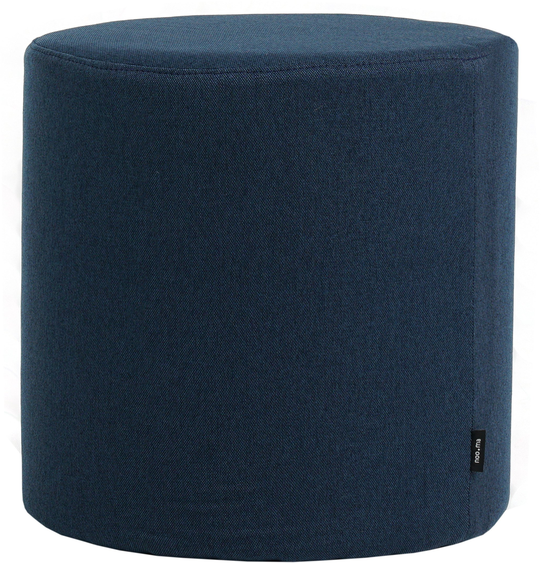 Folk Pouf Navy Blue Tall, noo.ma