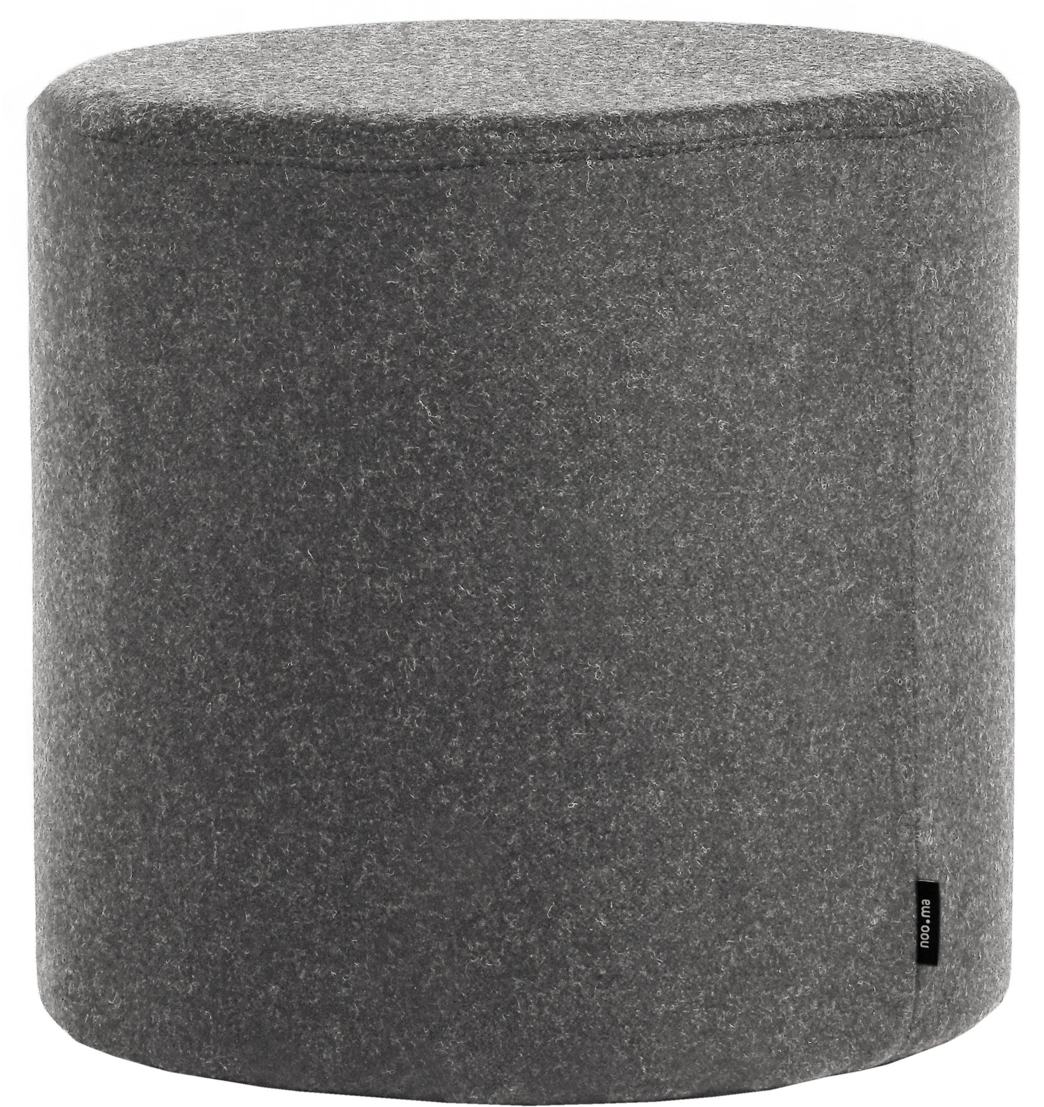 Folk Pouf Grey Tall, noo.ma