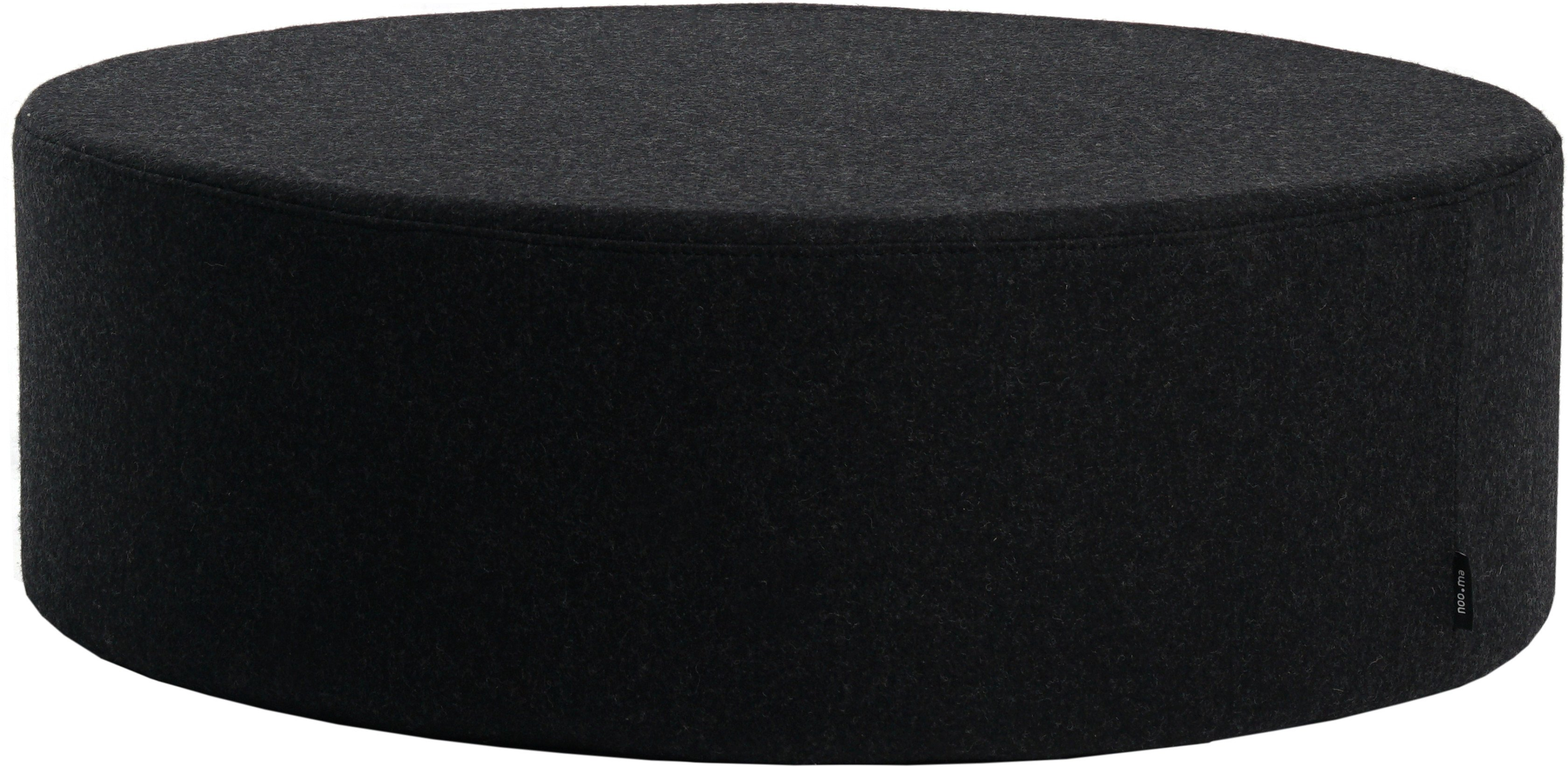 Folk Pouf Black Wide, noo.ma