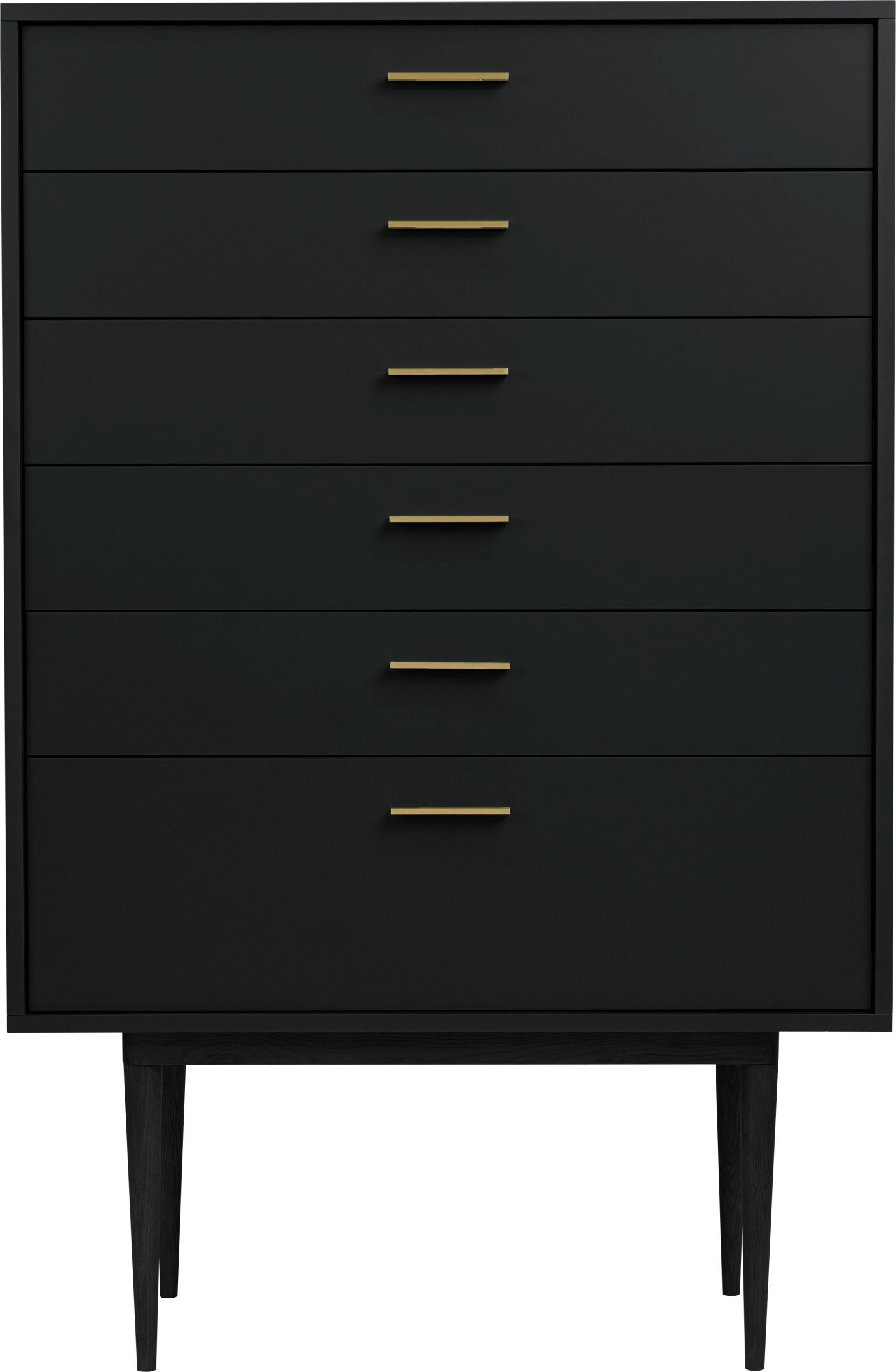 Logun Chest of Drawers Black, noo.ma