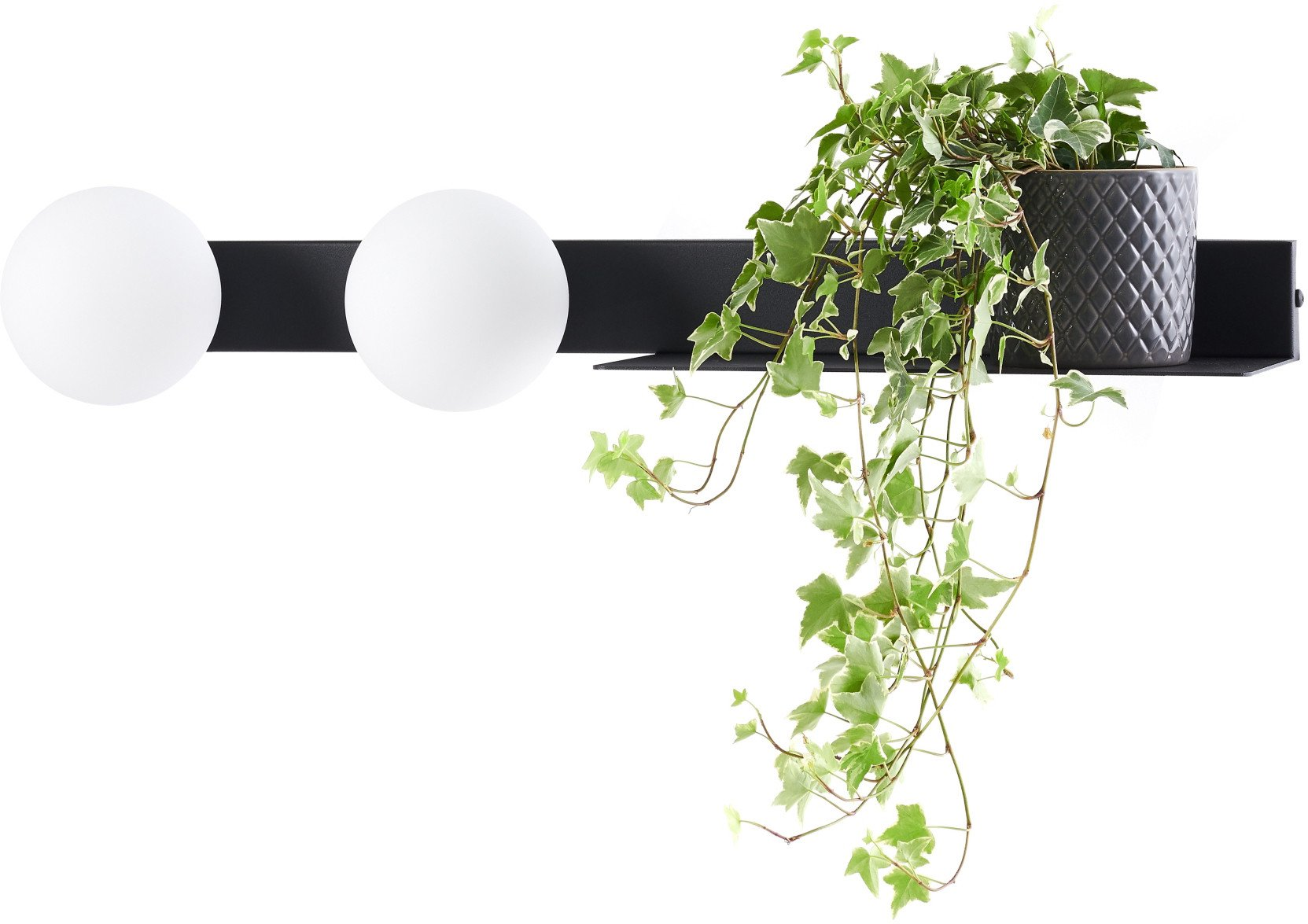 Botanica Deco Wall Lamp Black, Kaspa