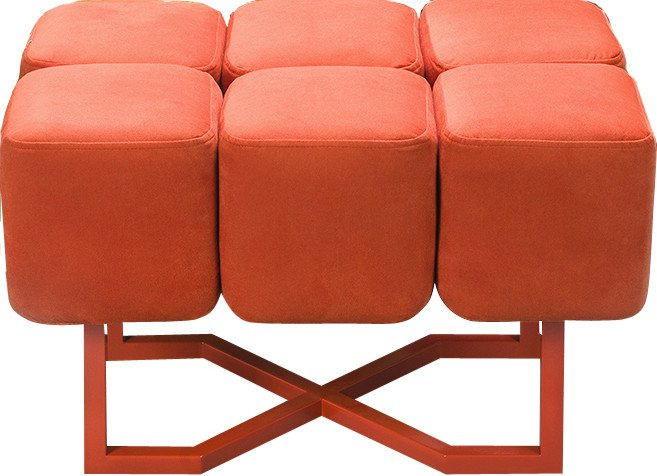 Orange Pouffe S by M. Kobiela for Phormy
