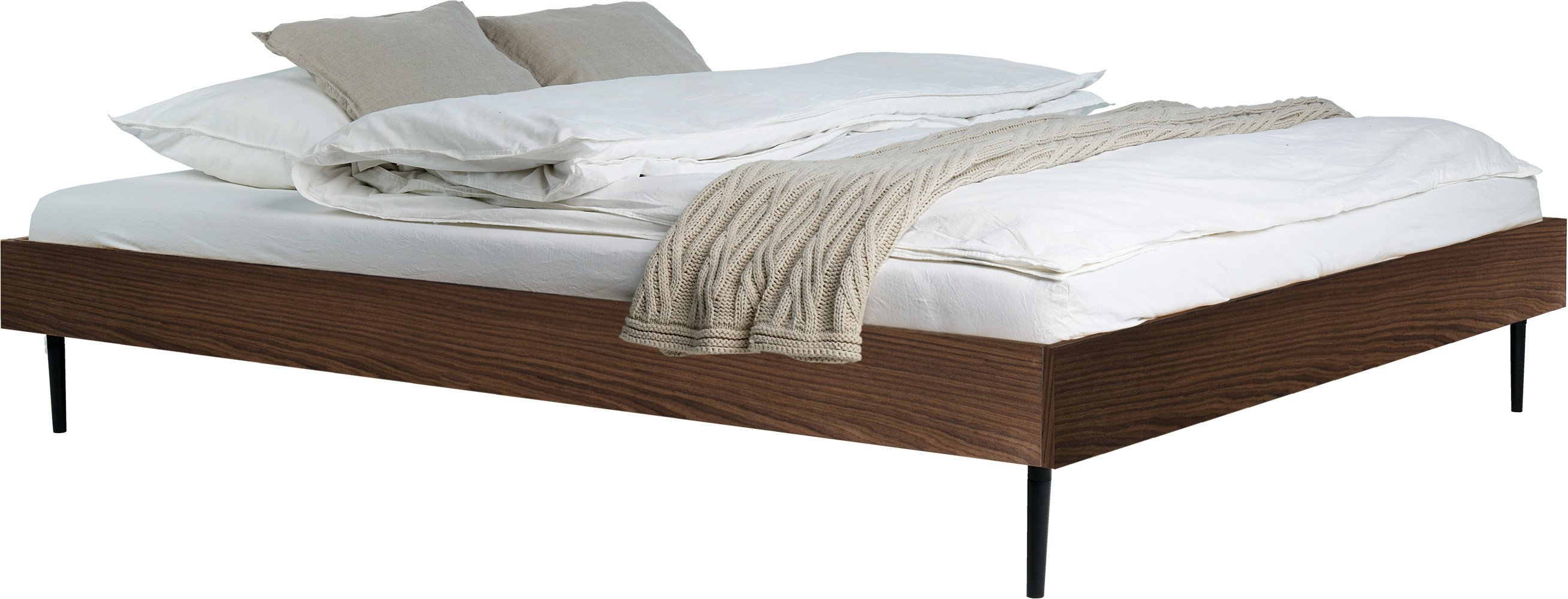 Streiko Bed 160x200 Walnut, noo.ma