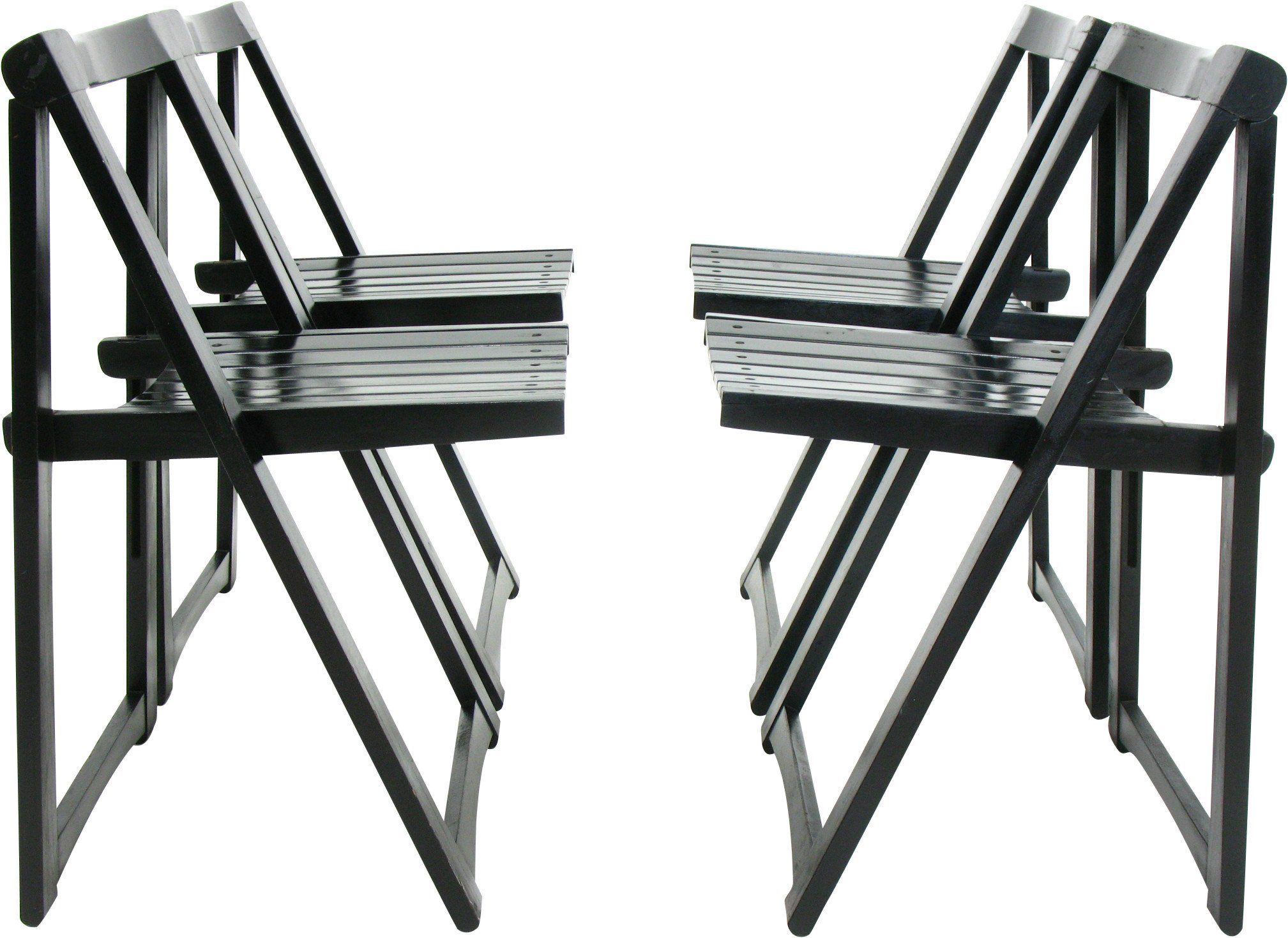 Set of Four Chairs by A. Jacober, 1970s