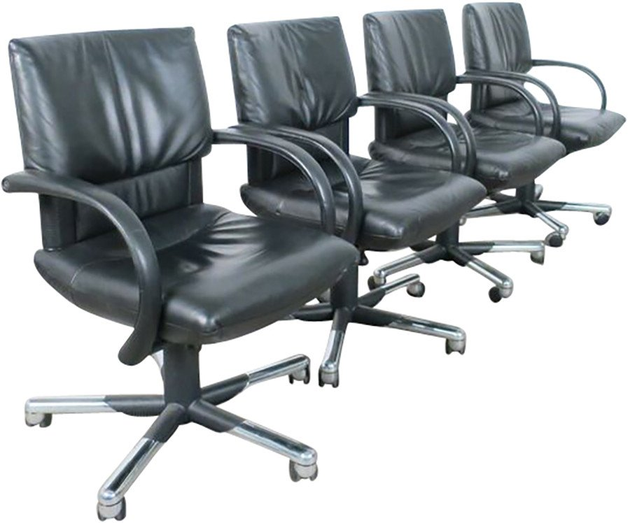 Set of Four Office Chairs by M. Bellini for Vitra, Germany, 1990s