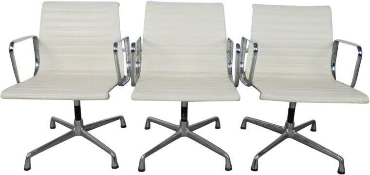 Set of Three Office Chairs by Ch. & R. Eames for Vitra, Germany, 1980s