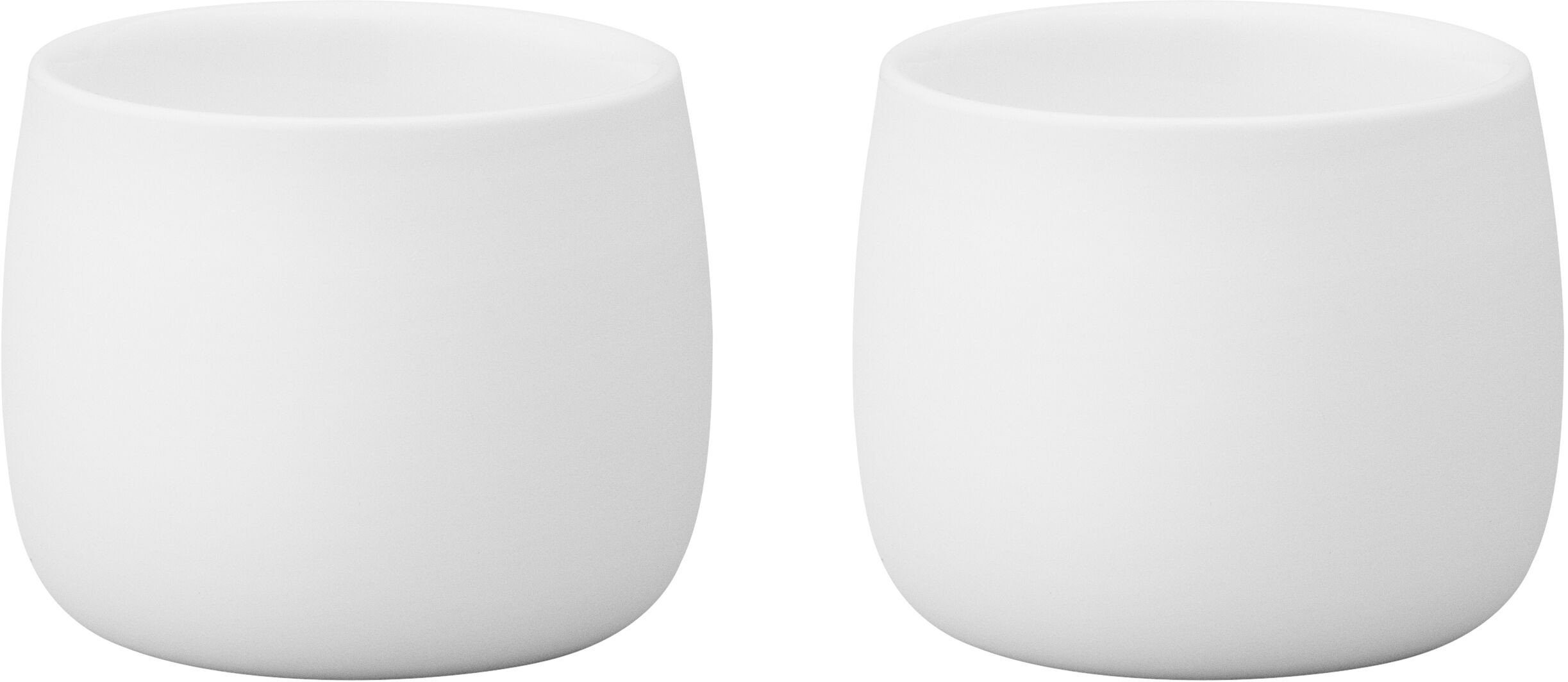 Pair of Foster Espresso Thermo Cup White by N. Foster for Stelton
