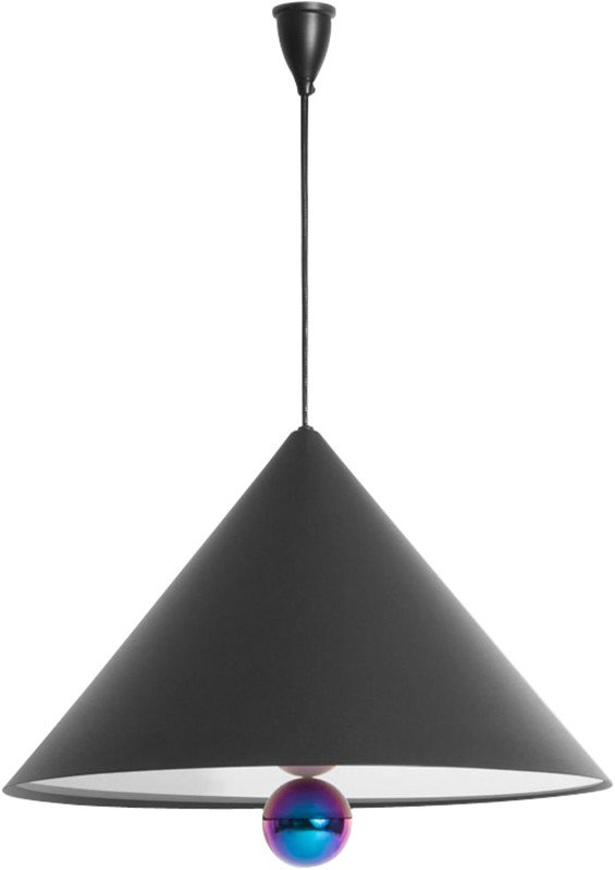 Cherry Pendant Lamp Black L by D. To & E. Aiston for Petite Friture