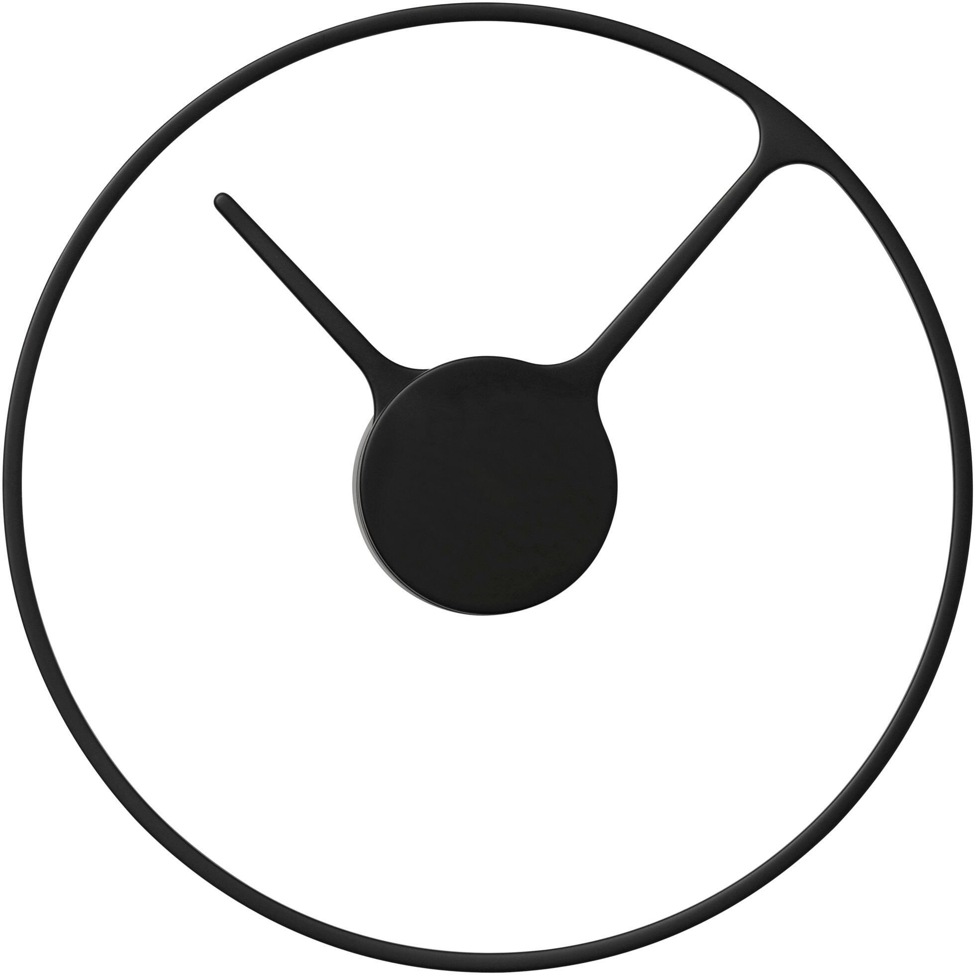 Stelton Time Wall Clock Black M by Jehs+Laub for Stelton