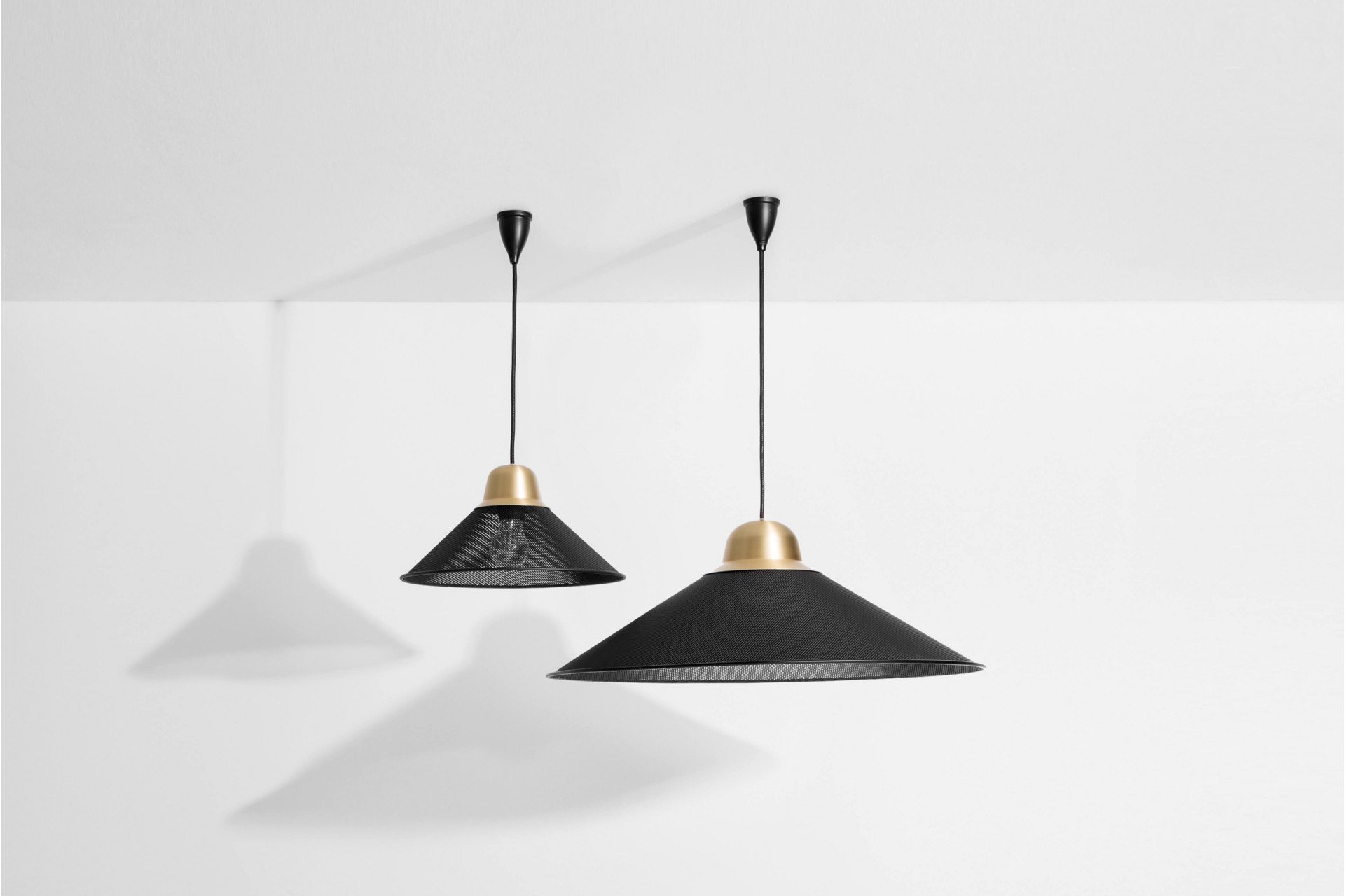 Aura Pendant Lamp Black L by T. Kral for Petite Friture