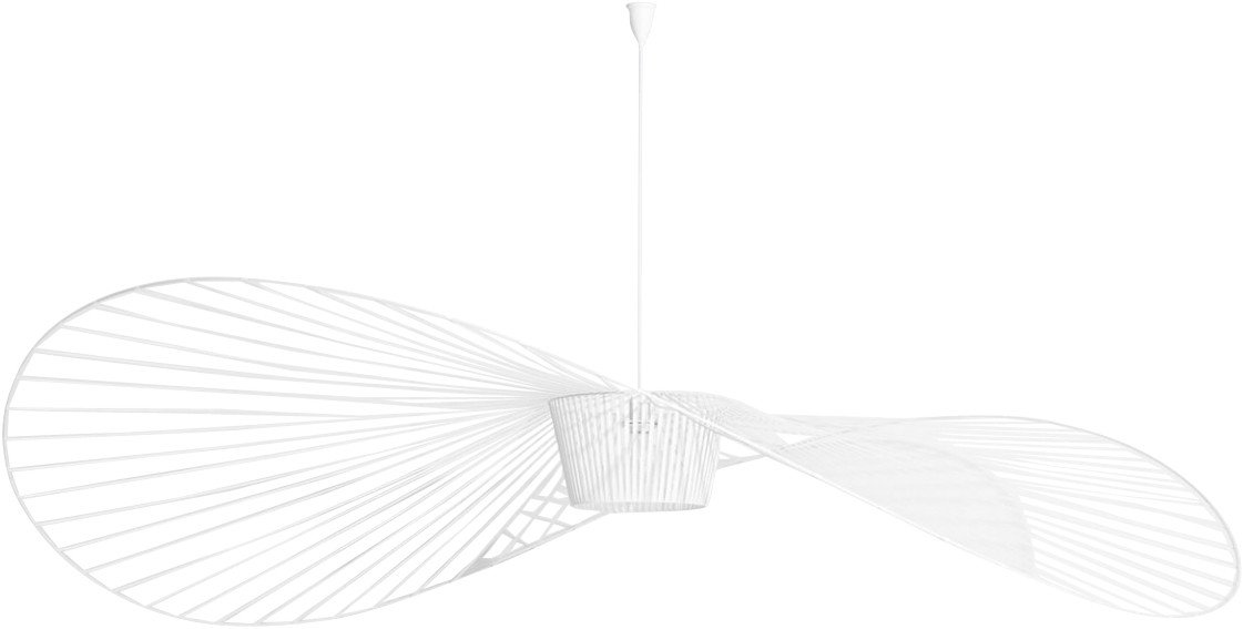 Vertigo Pendant Lamp White L by C. Guisset for Petite Friture
