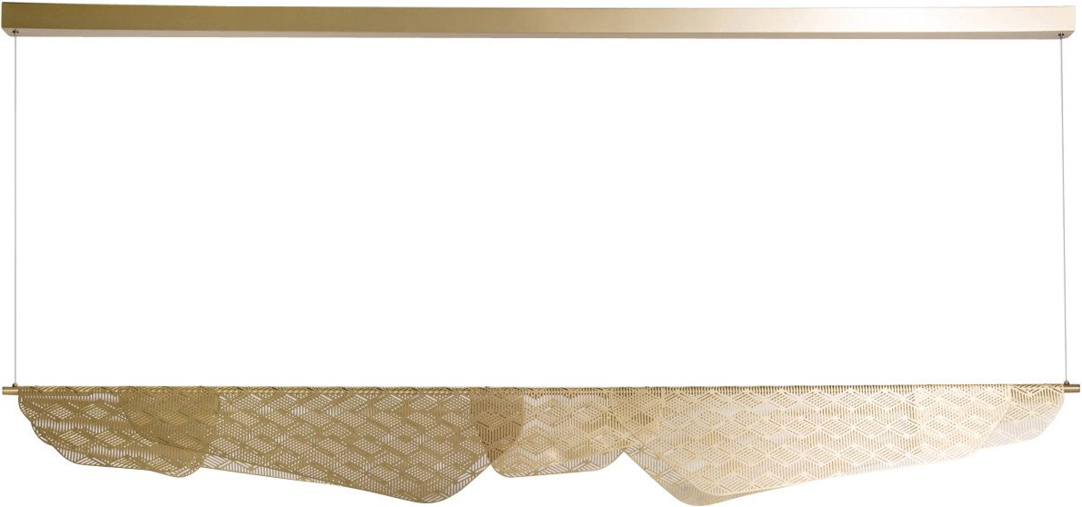 Mediterranea Pendant Lamp Golden 160 cm by N. Duchaufour-Lawrance for Petite Friture