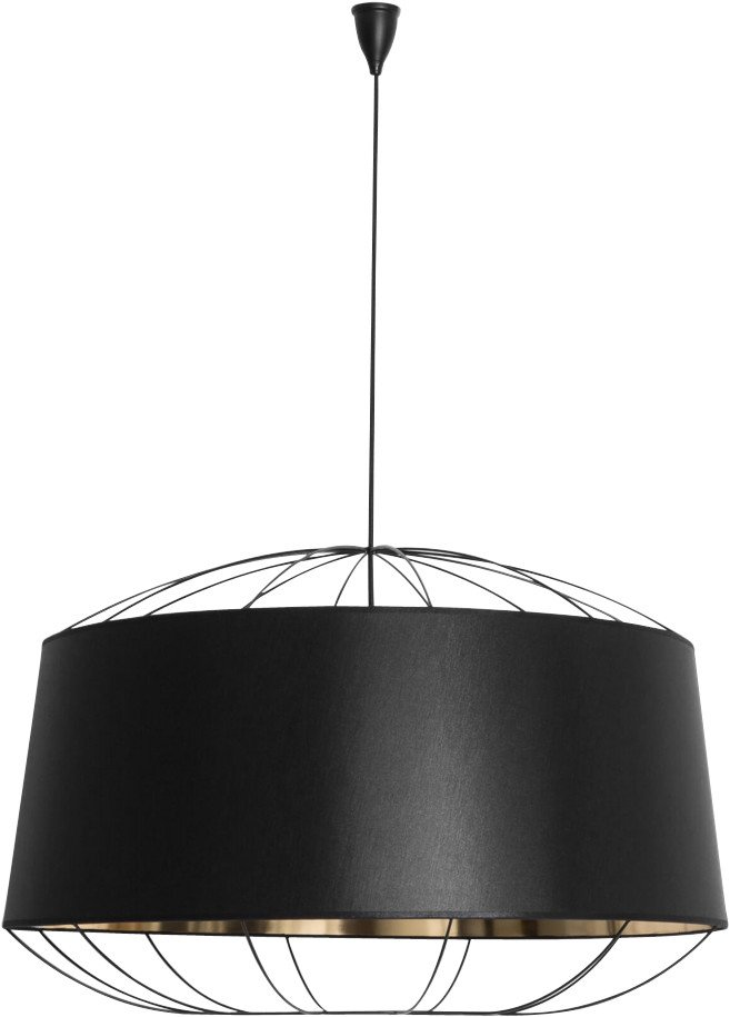Lanterna Pendant Lamp Black L by S. Baron for Petite Friture