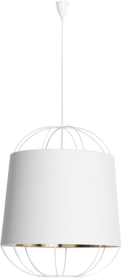 Lanterna Pendant Lamp White M by S. Baron for Petite Friture