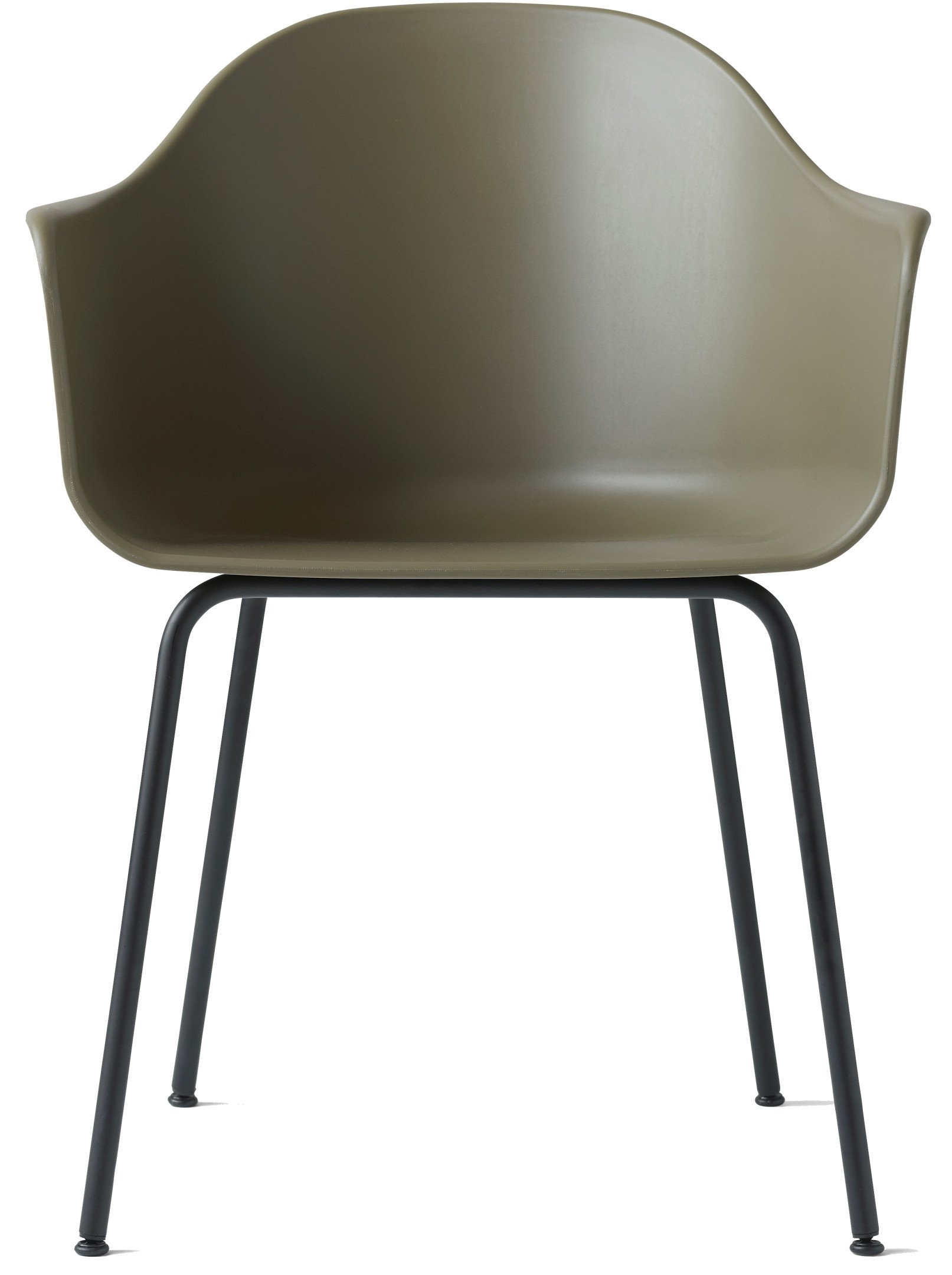 Harbour Chair Olive/Black Steel by Norm Architects for Menu