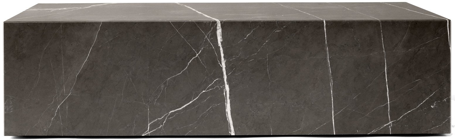 Coffee Table Plinth Low Brown Grey Kendzo Marble by Norm Architects for Menu