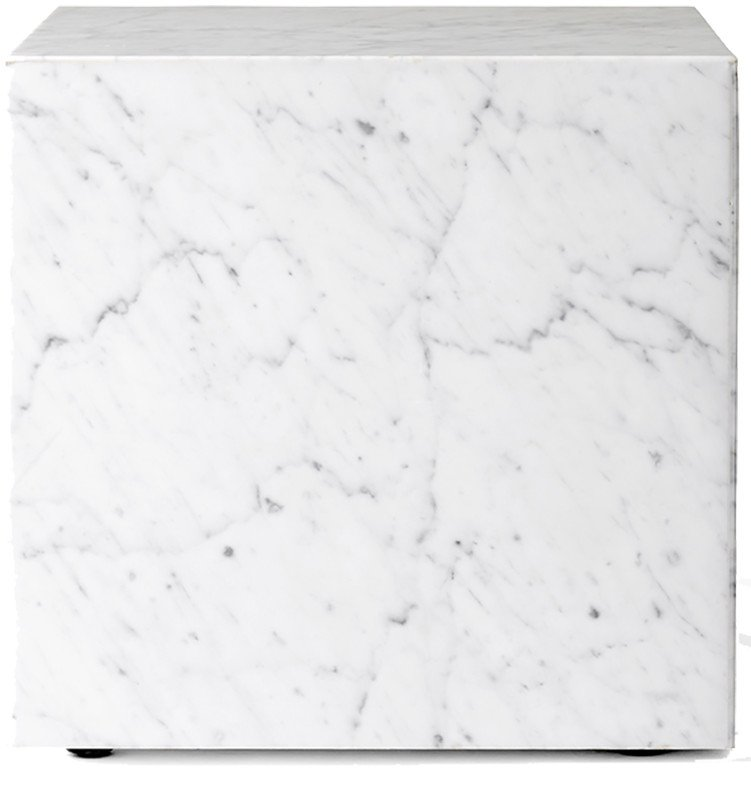 Coffee Table Plinth Cubic White Carrara Marble by Norm Architects for Menu