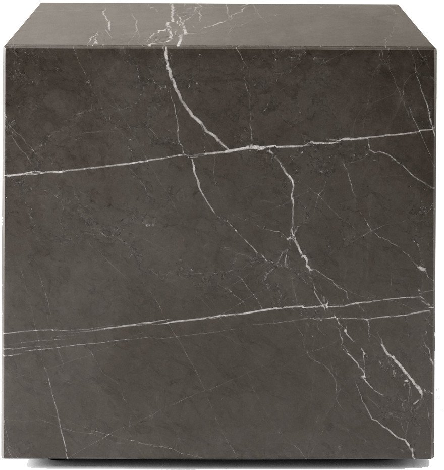 Coffee Table Plinth Cubic Brown Grey Kendzo Marble by Norm Architects for Menu