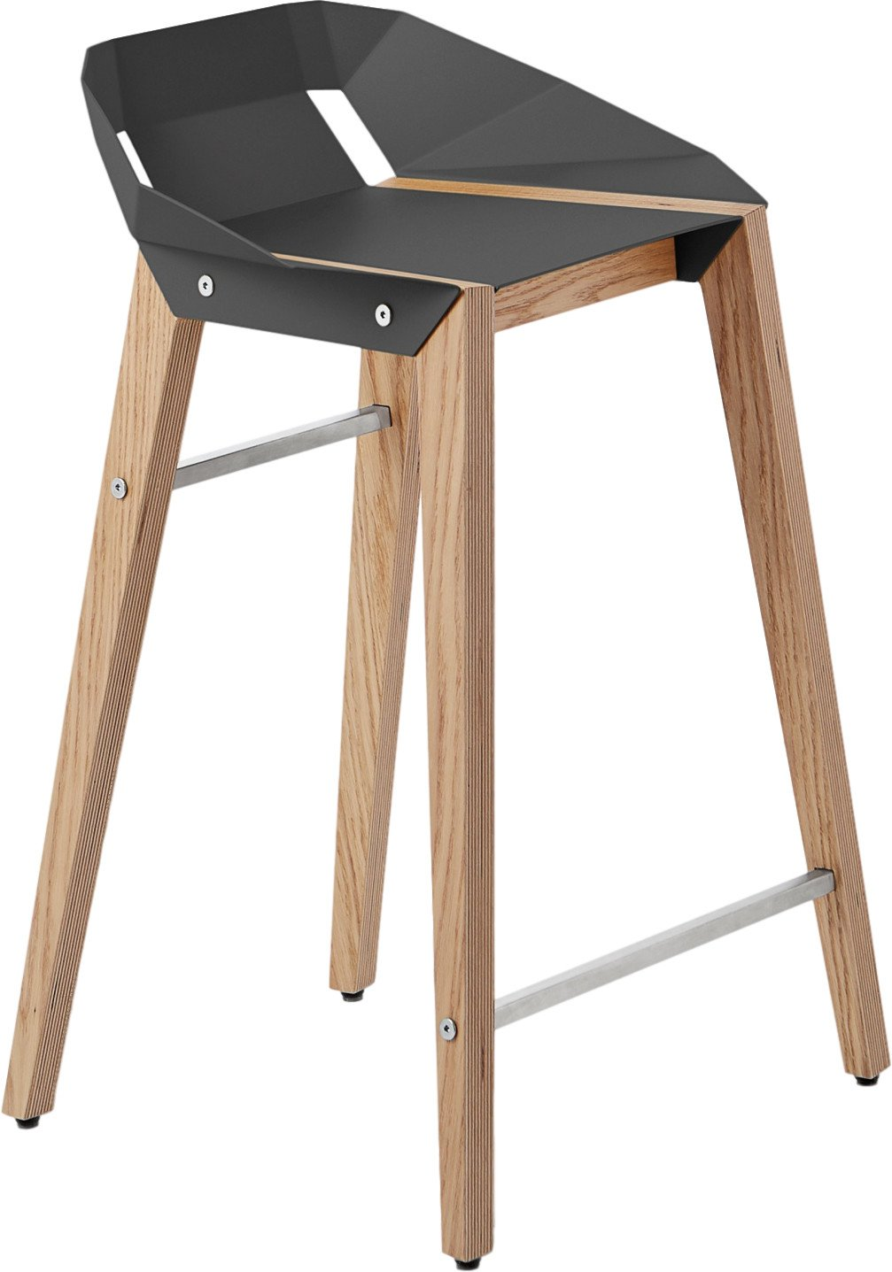 Diago Stool Low Dark Grey, Tabanda, Poland