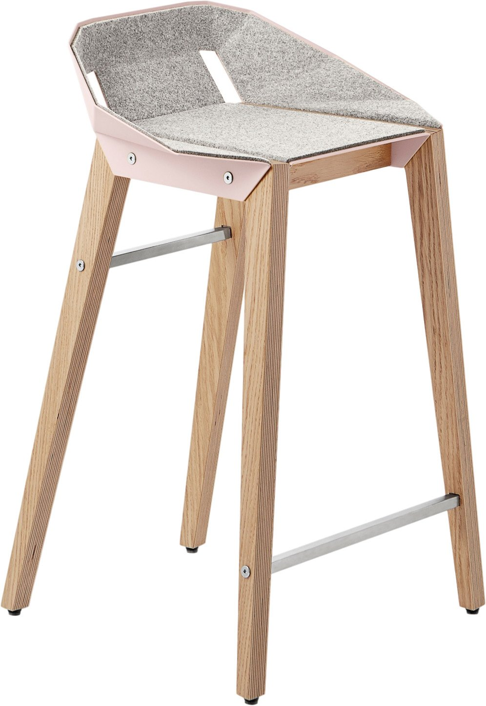 Diago Felt Stool Low Pink, Tabanda, Poland