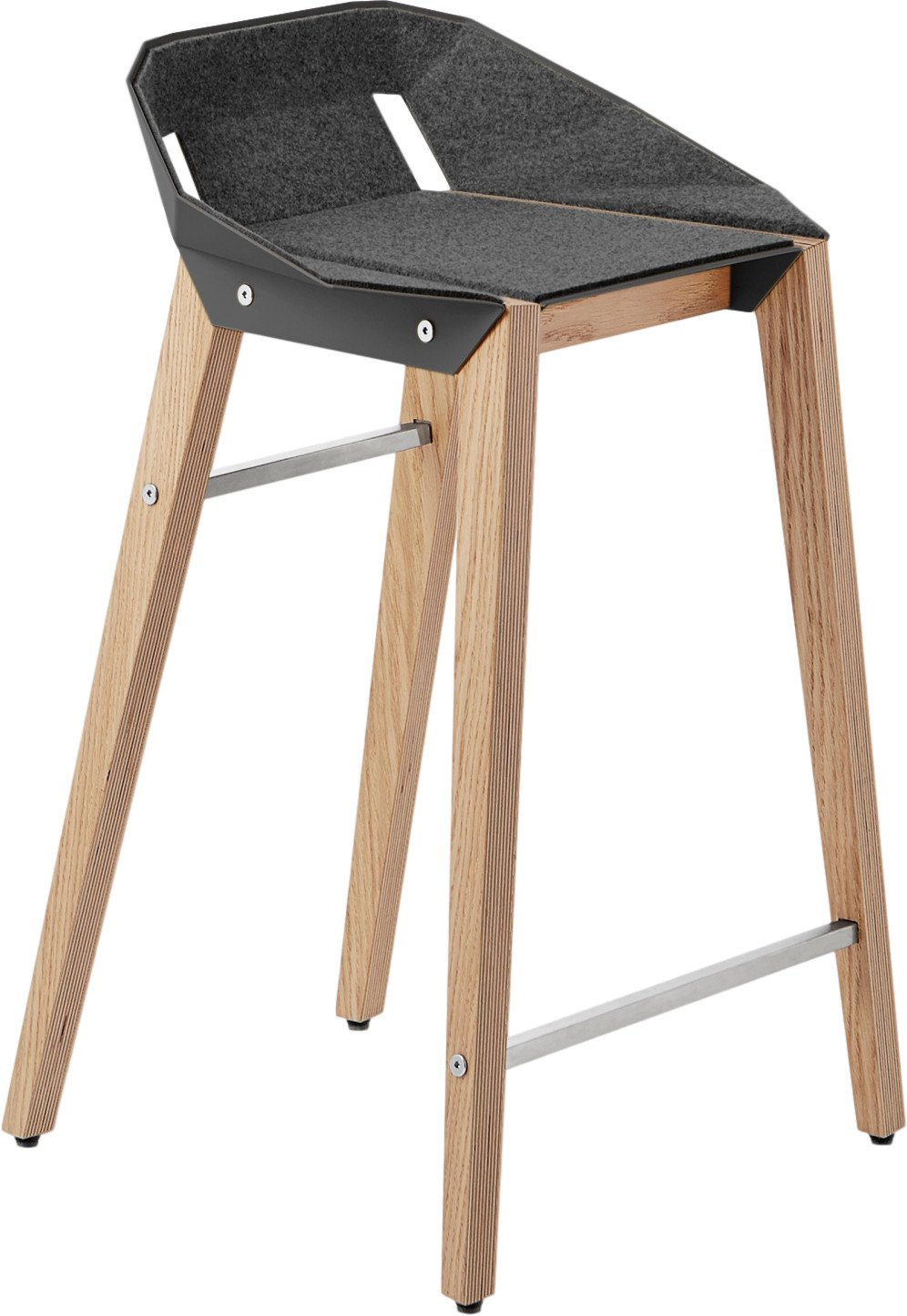 Diago Felt Stool Low Dark Grey, Tabanda, Poland