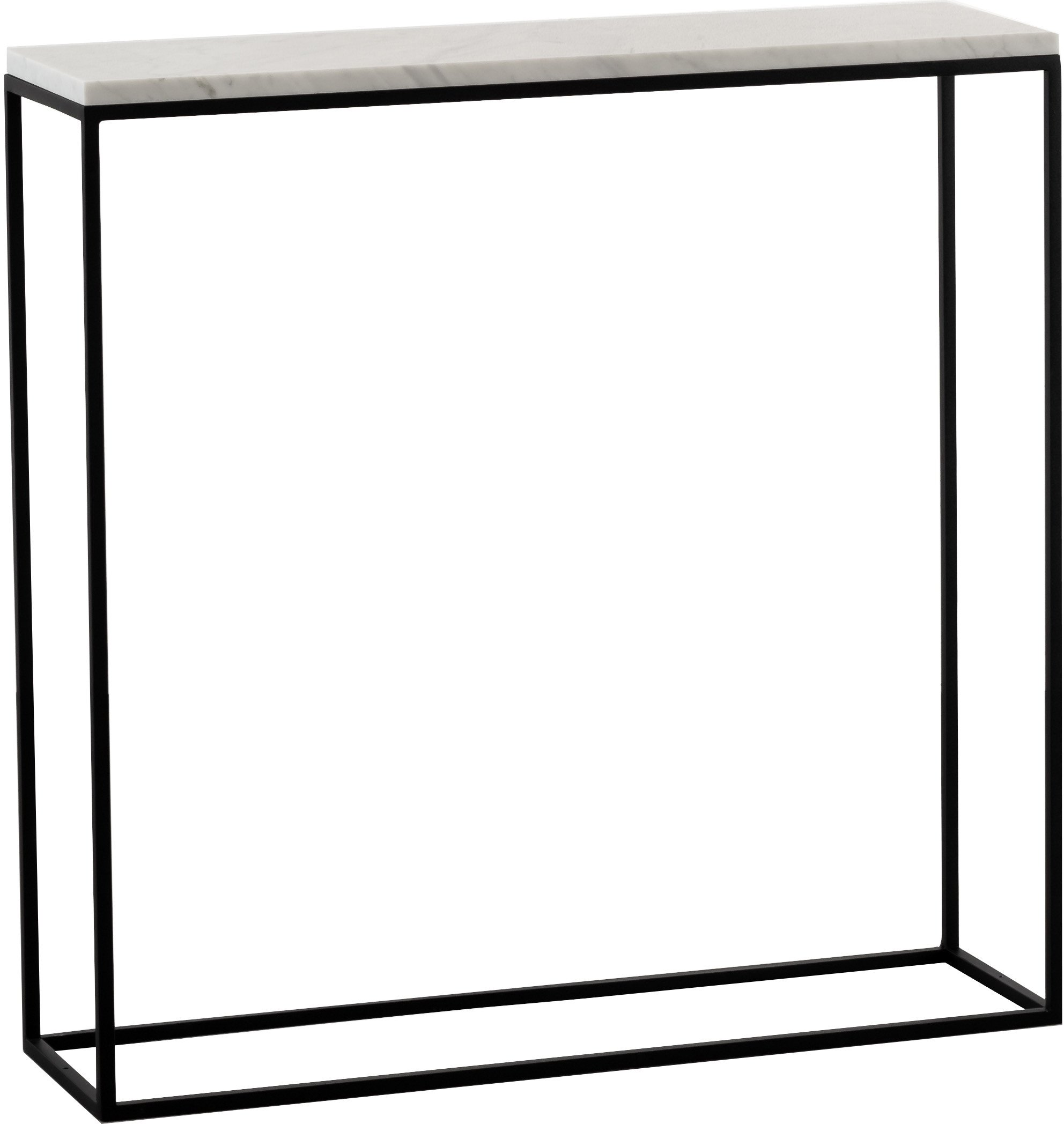 Slim One Side Table White Marble, Un'common