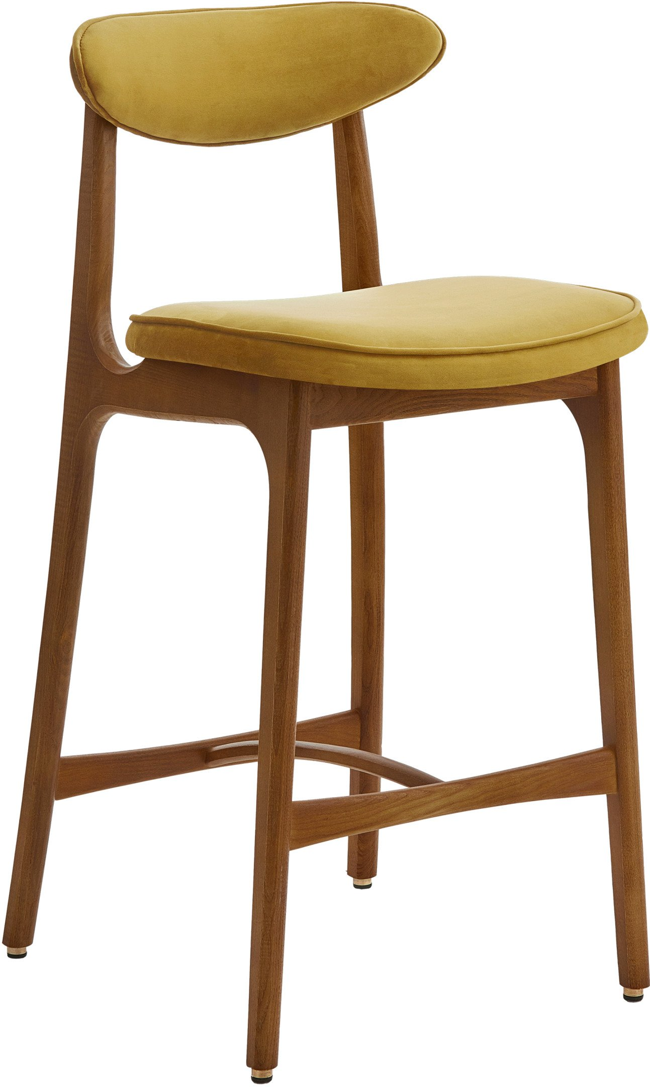 200-190 Bar Stool 65 Chair, Shine Velvet Mustard, 366 Concept