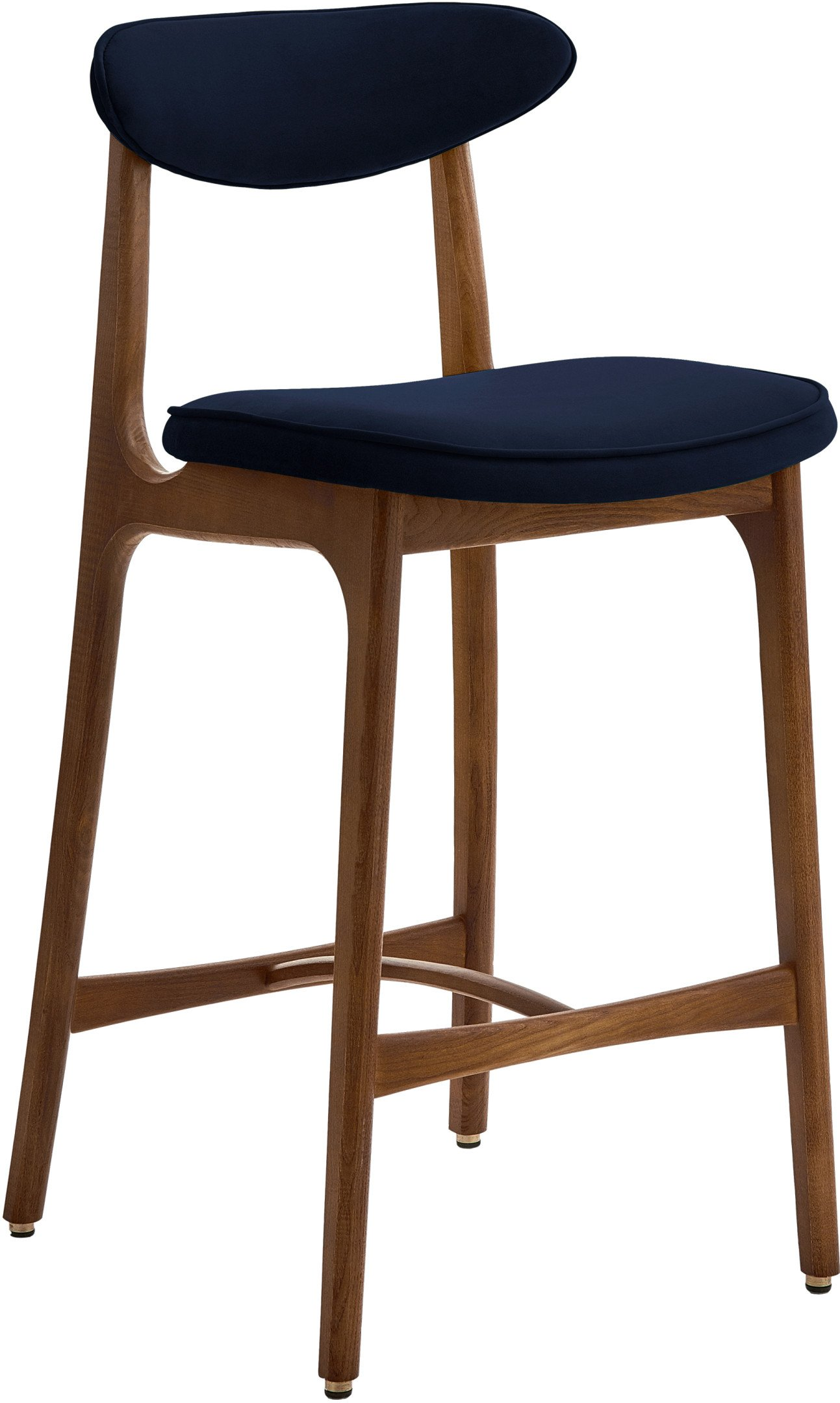 200-190 Bar Stool 65 Chair, Velvet Indigo, 366 Concept