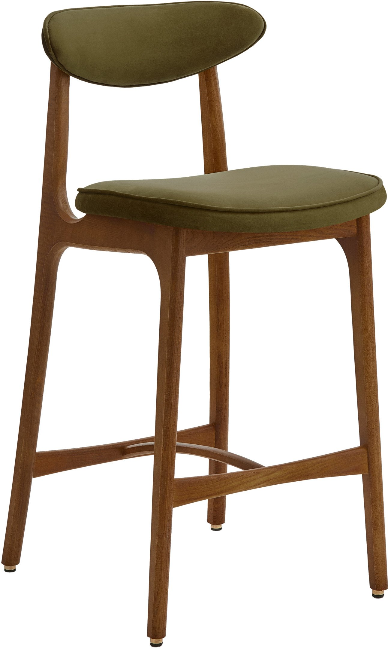 200-190 Bar Stool 65 Chair, Velvet Olive, 366 Concept