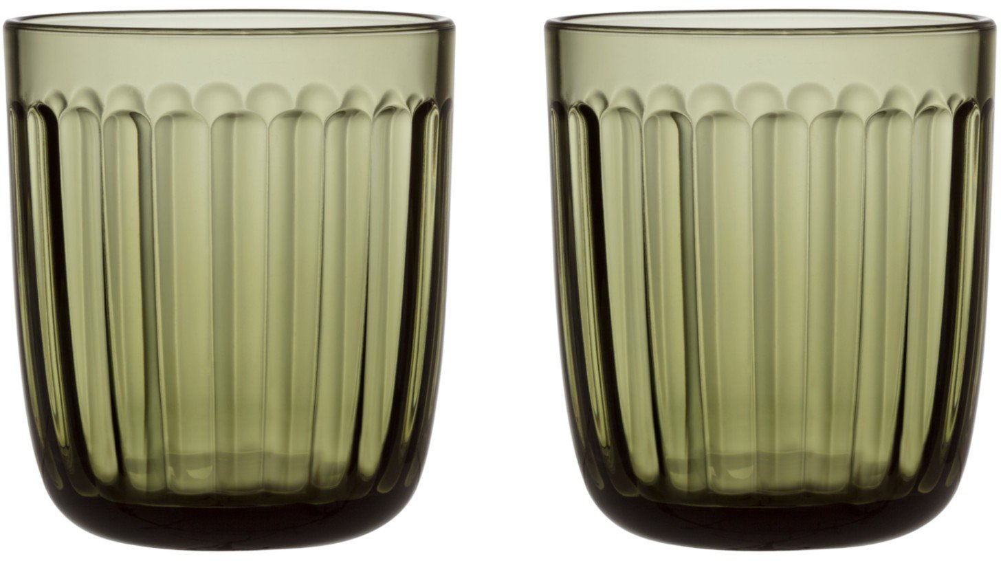 Pair of Glasses Raami 260 ml Moss Green by J. Morrison for Iittala