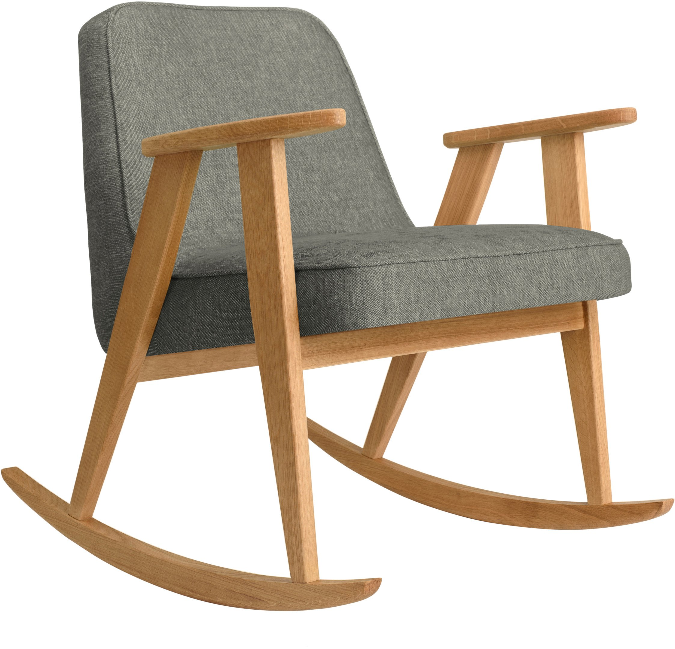 366 Rocking Chair Loft Grey (natural oak) by Józef Chierowski