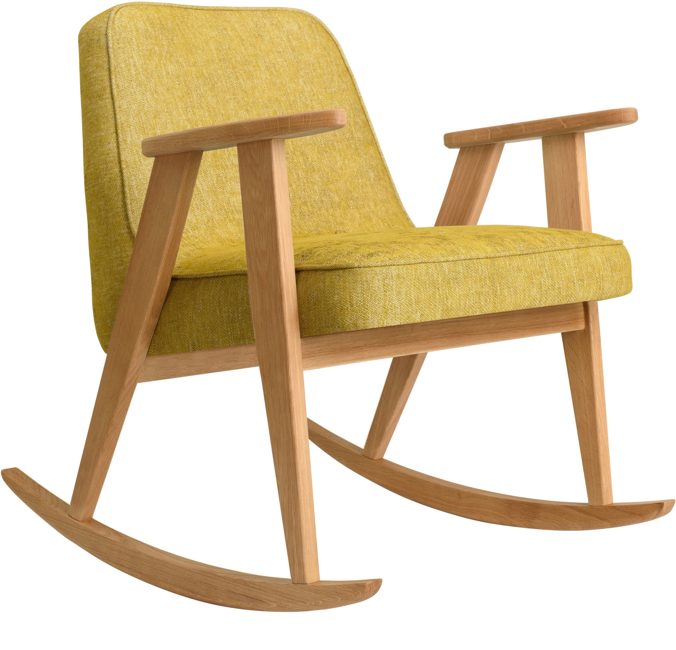 366 Rocking Chair Loft Mustard (natural oak) by Józef Chierowski