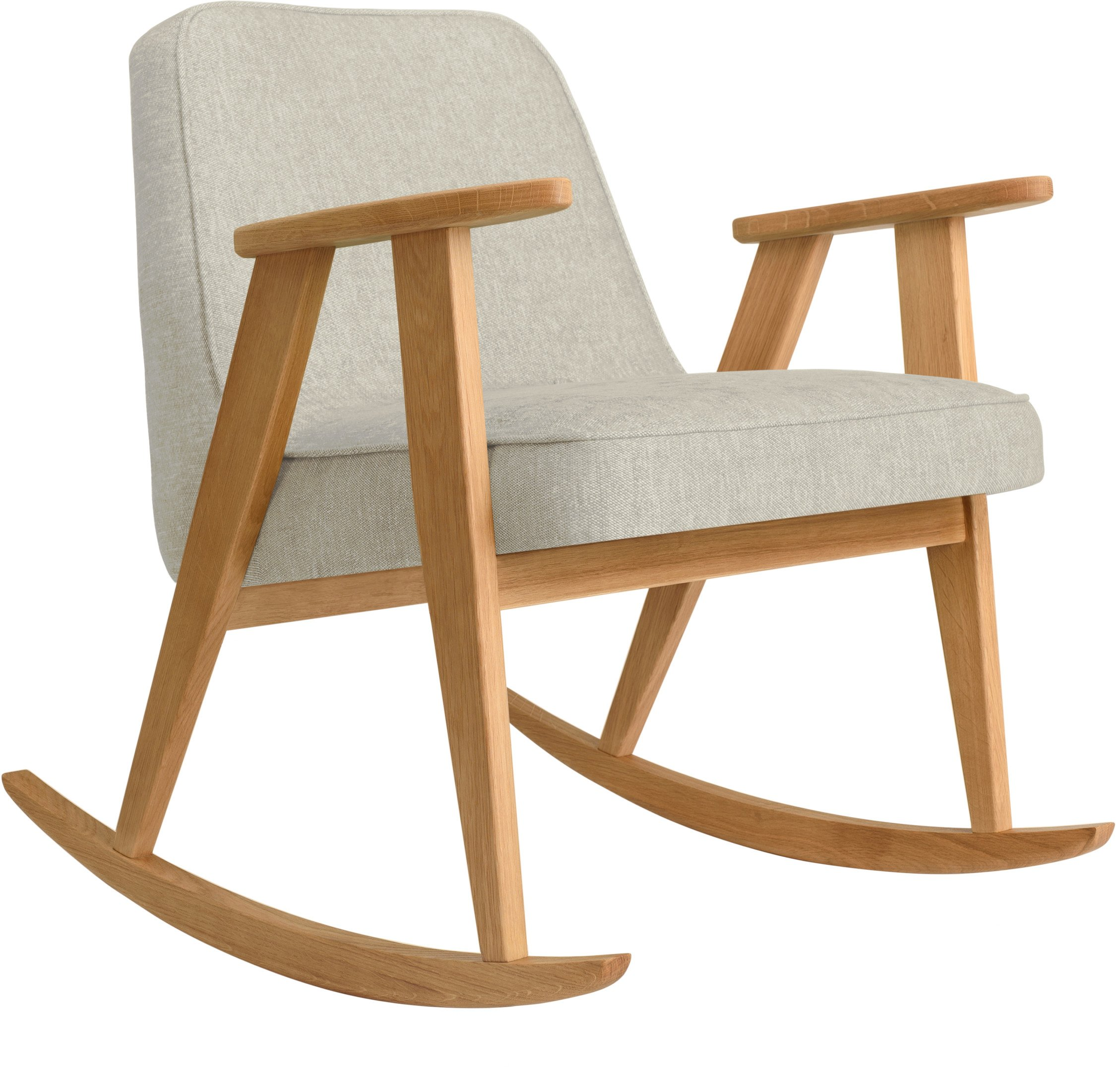 366 Rocking Chair Loft White (natural oak) by Józef Chierowski