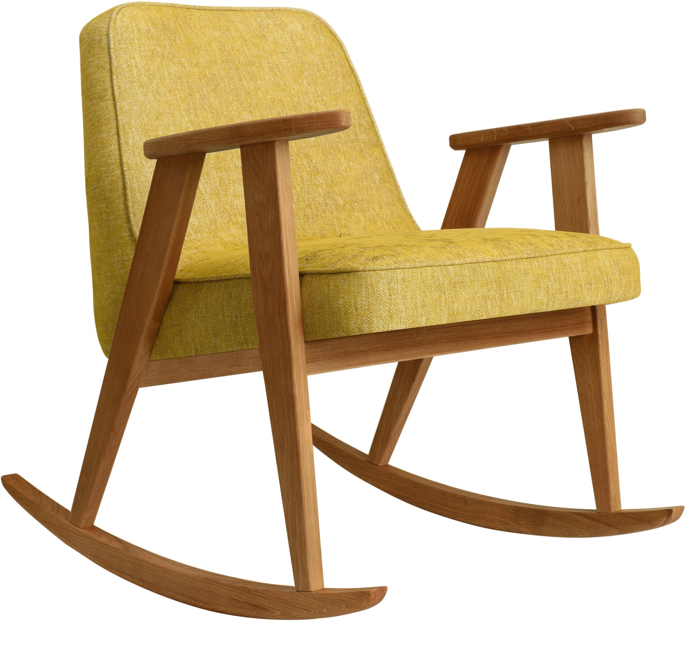 366 Rocking Chair Loft Mustard (dark oak) by Józef Chierowski