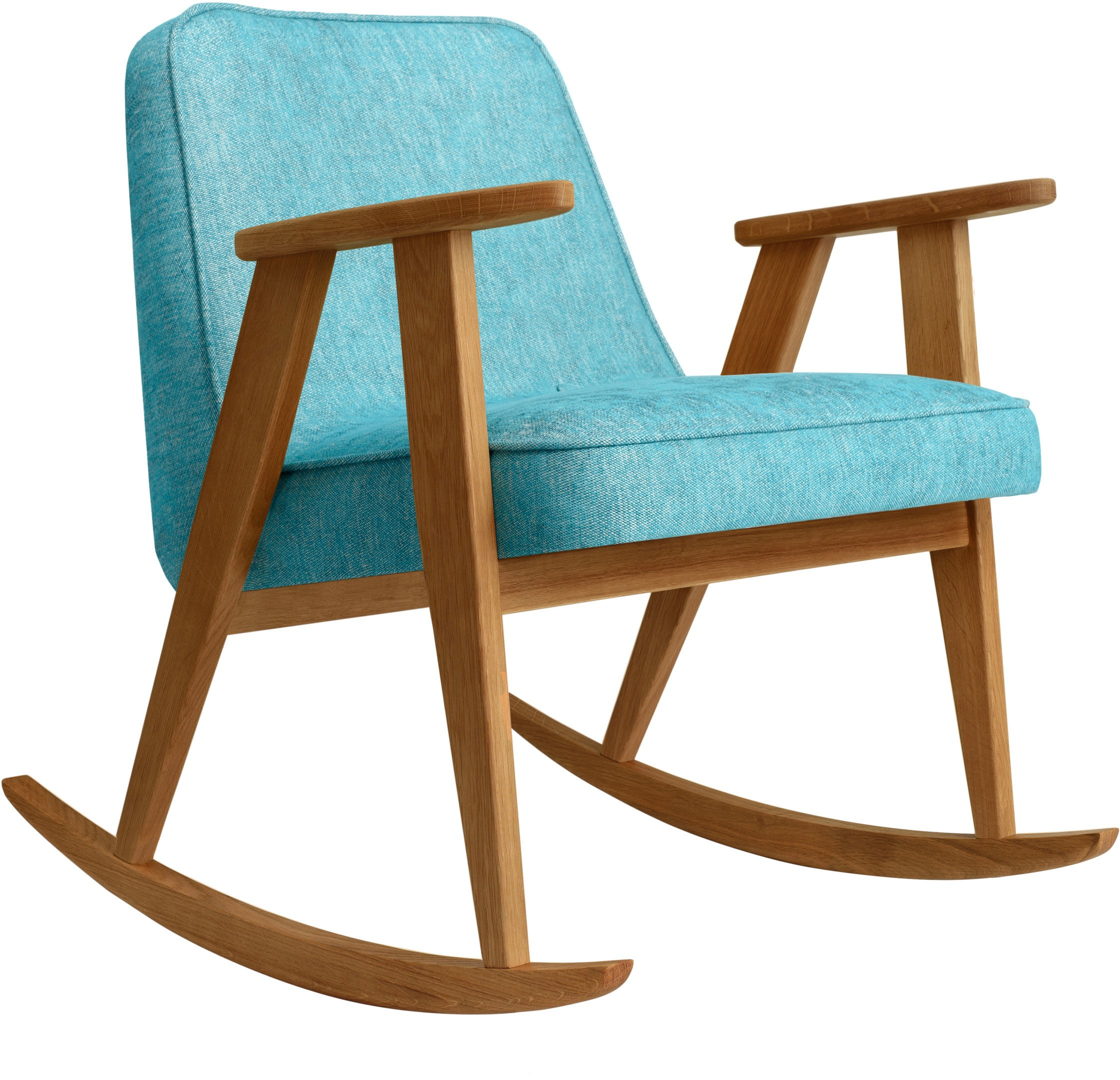 366 Rocking Chair Loft Turquoise (dark oak) by Józef Chierowski