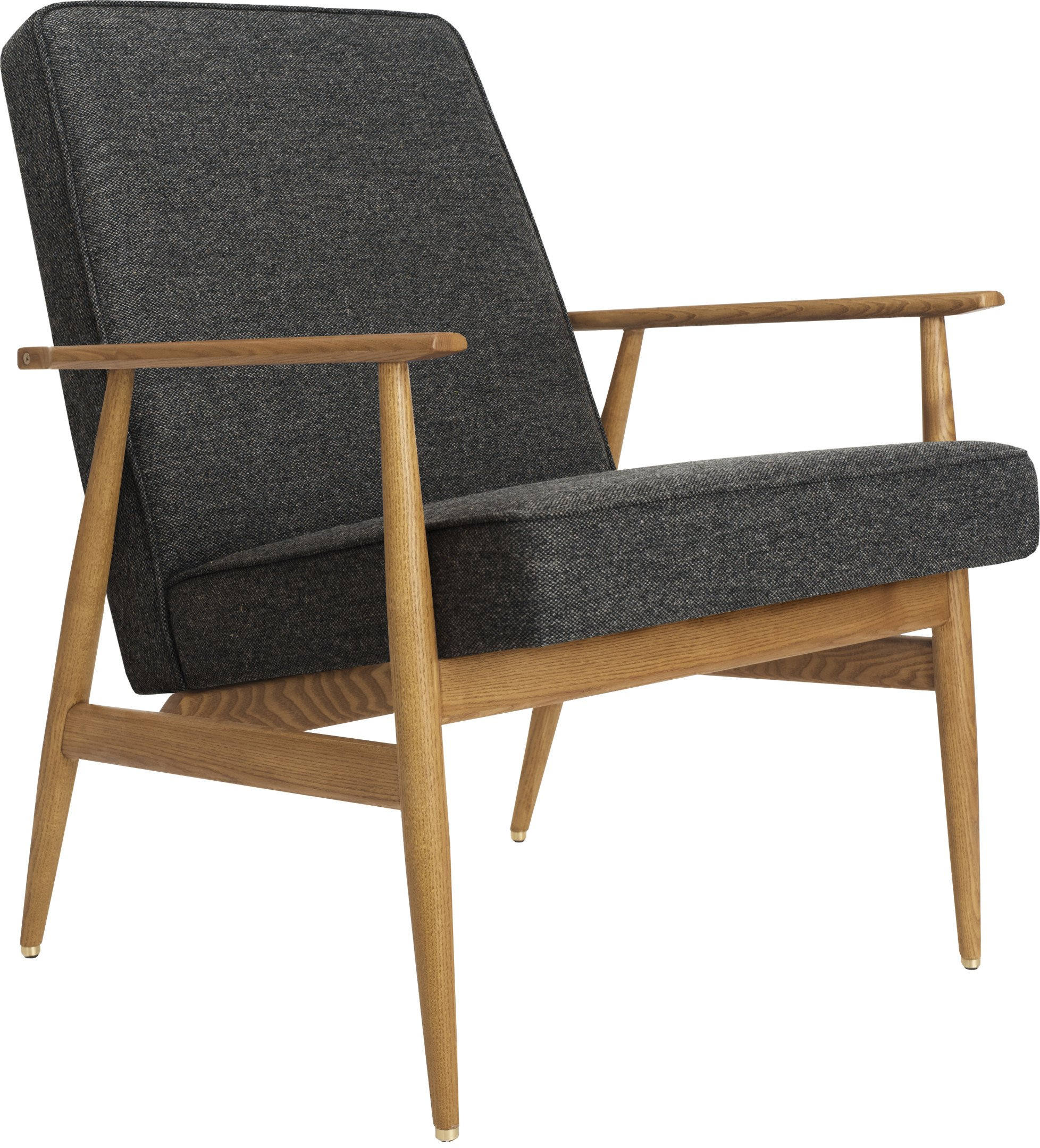 The Fox Lounge Chair Wool Grey Black (dark ash) - 366 Concept