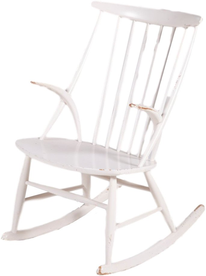 IW3 Rocking Chair by I. Wikkelso, Niels Eilersen, Denmark, 1950s