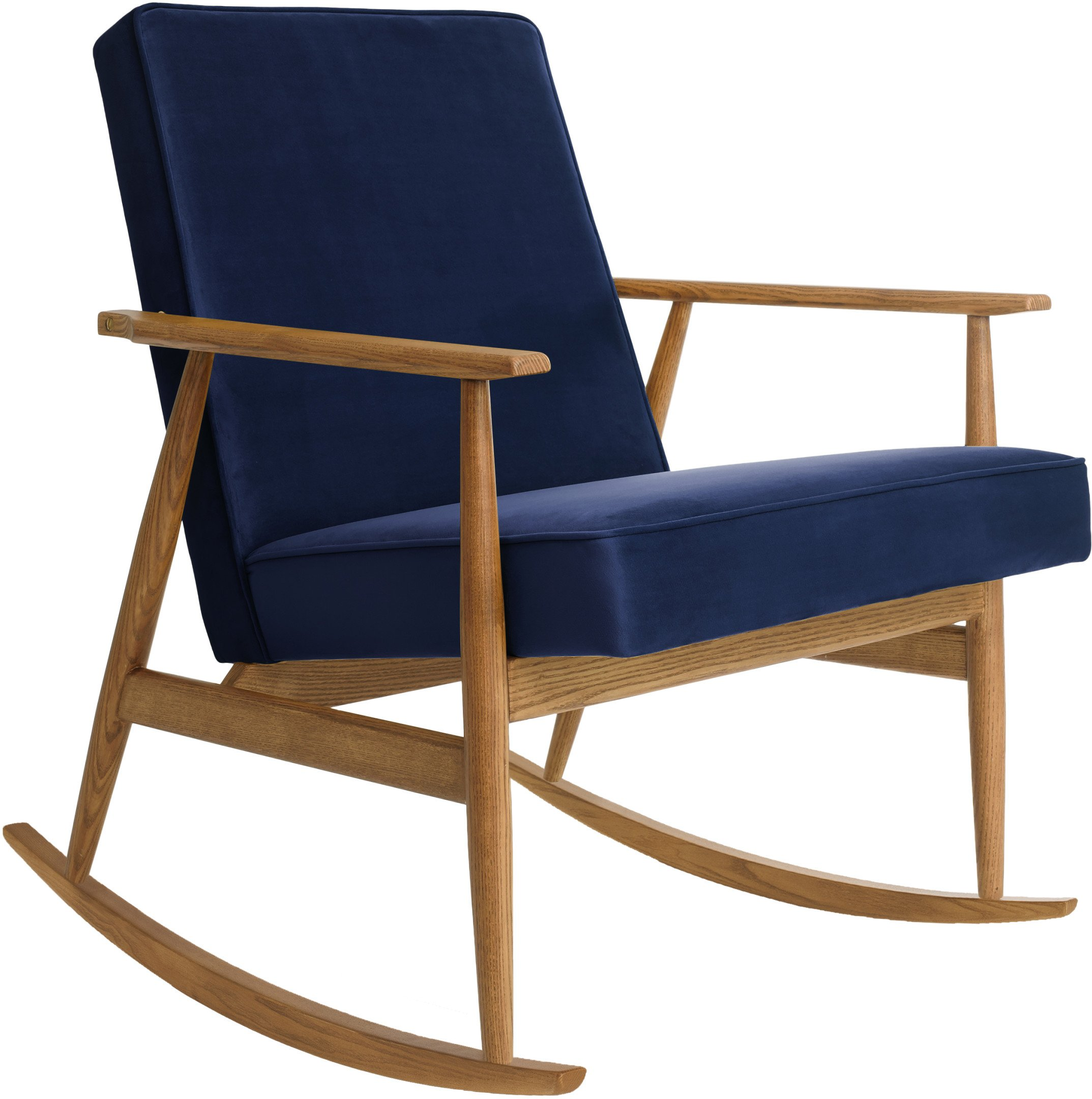 Fox Rocking Chair Shine Velvet Indigo (dark ash), 366 Concept
