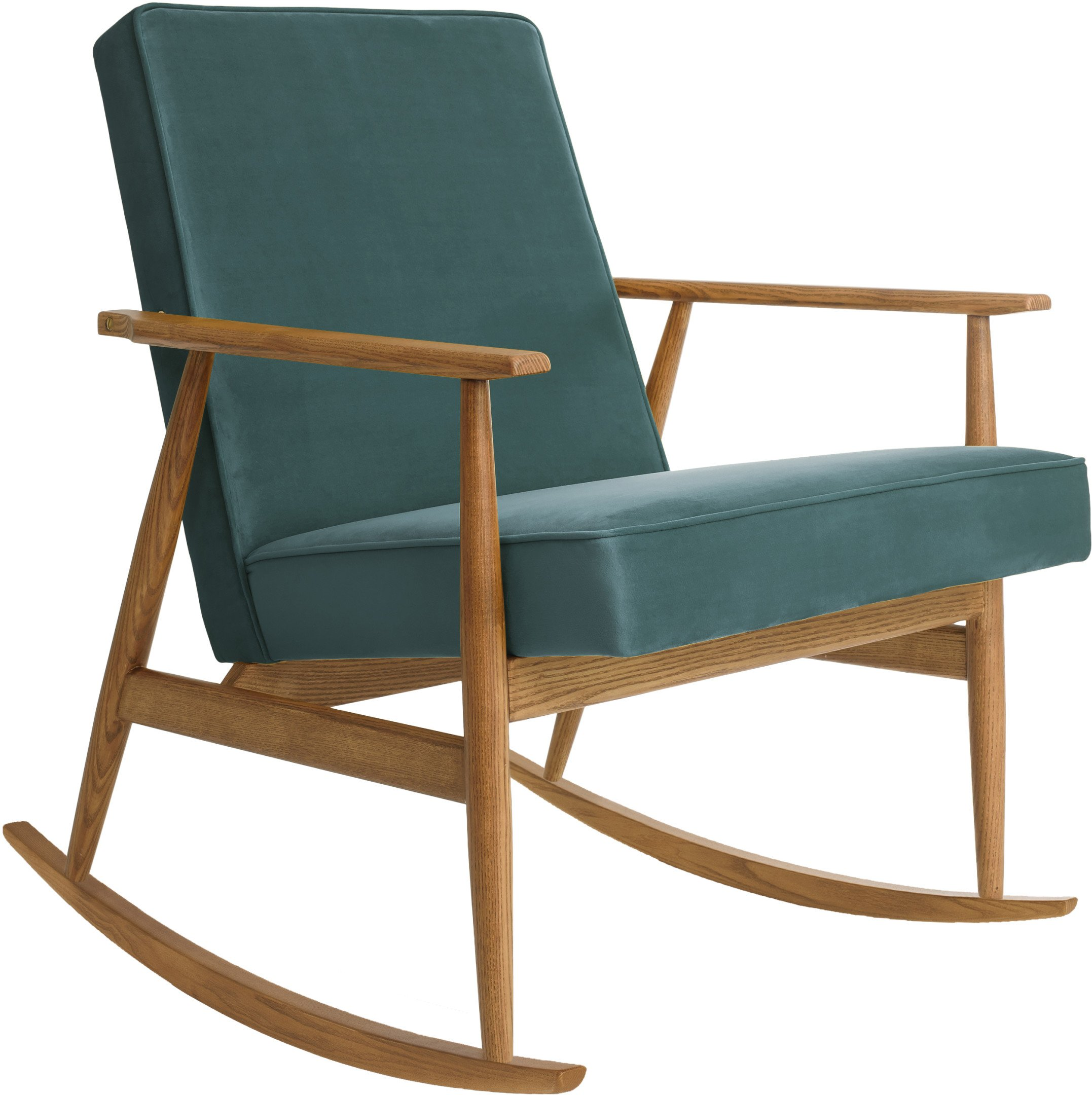 Fox Rocking Chair Shine Velvet Ocean (dark ash), 366 Concept