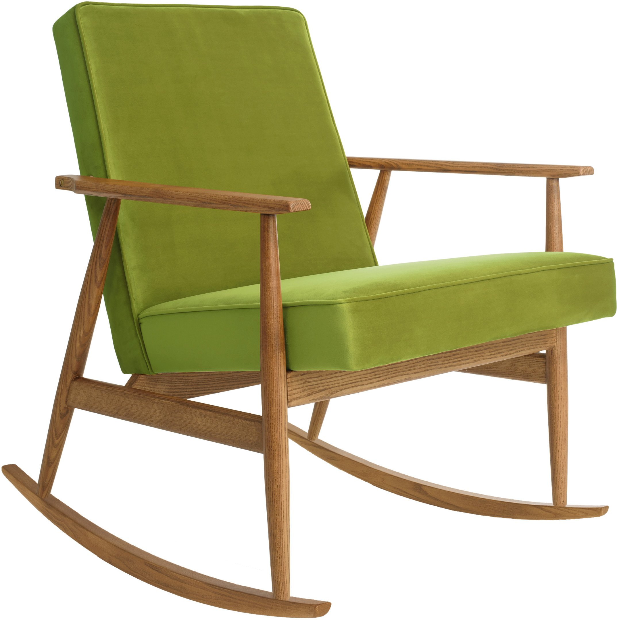 Fox Rocking Chair Shine Velvet Green (dark ash), 366 Concept