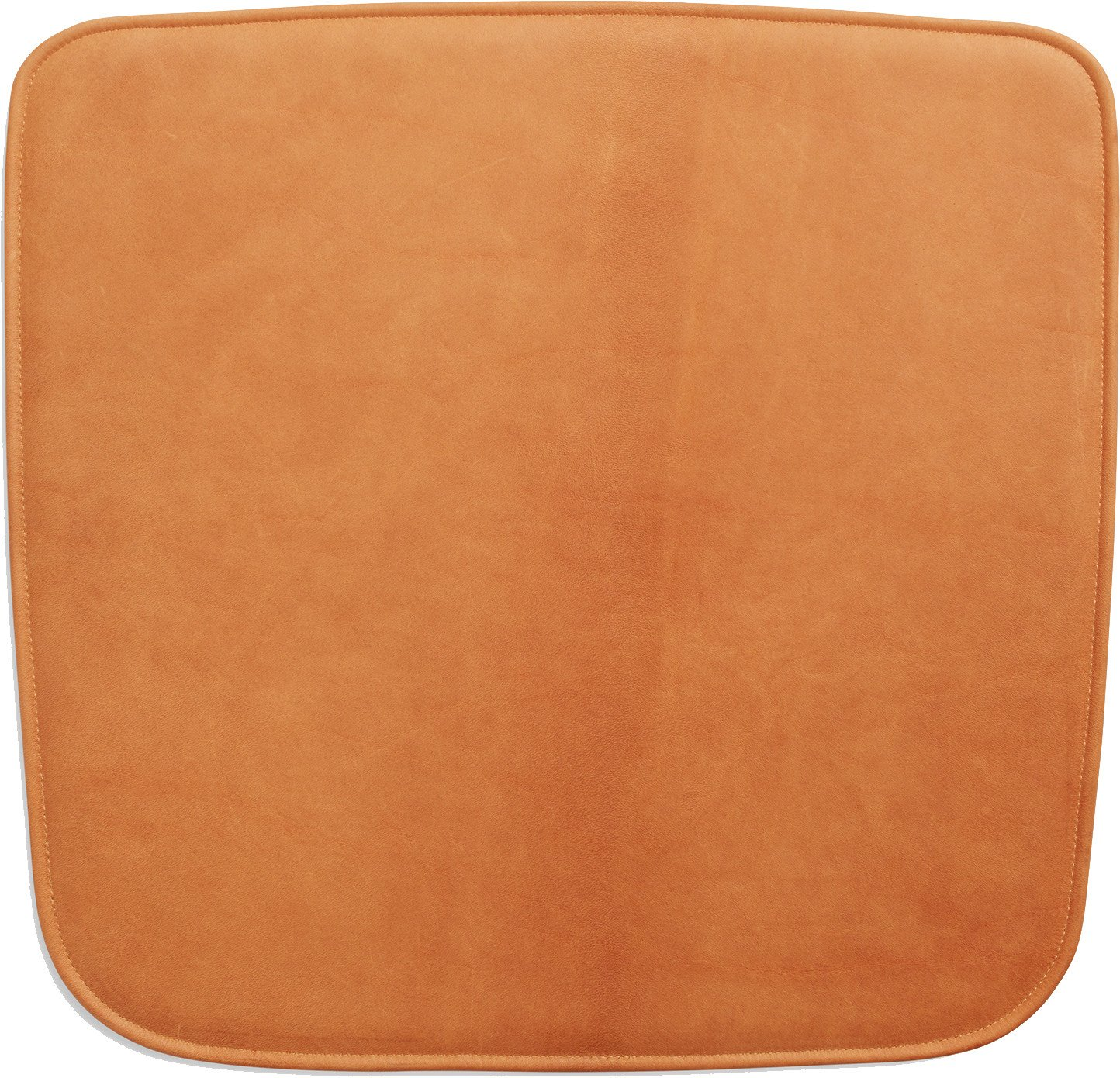 Hven Bar Stool Cushion Aniline Leather Orange by A. Björsing, Skagerak