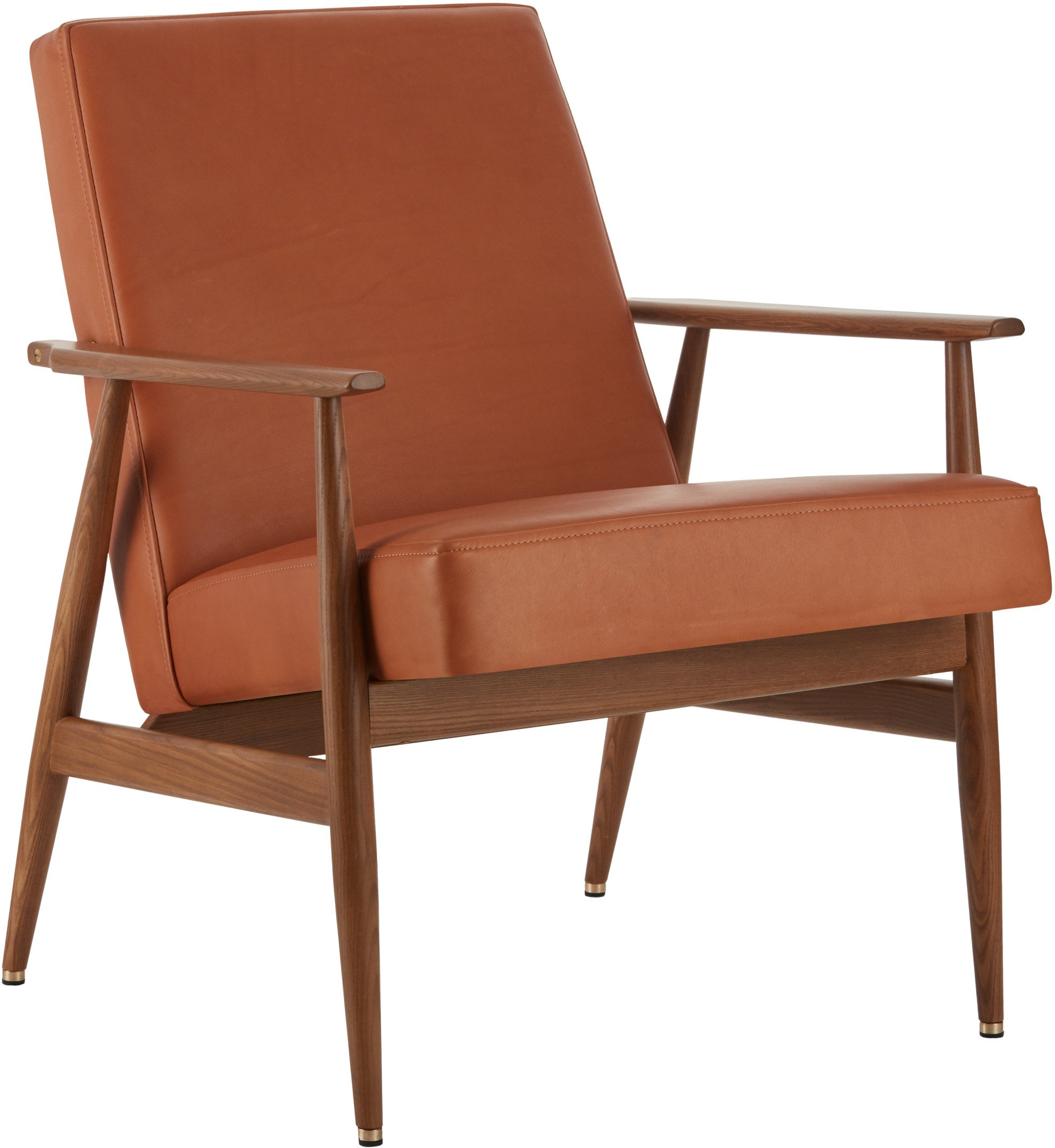 The Fox Lounge Chair Natural Leather Cognac (dark ash) - 366 Concept