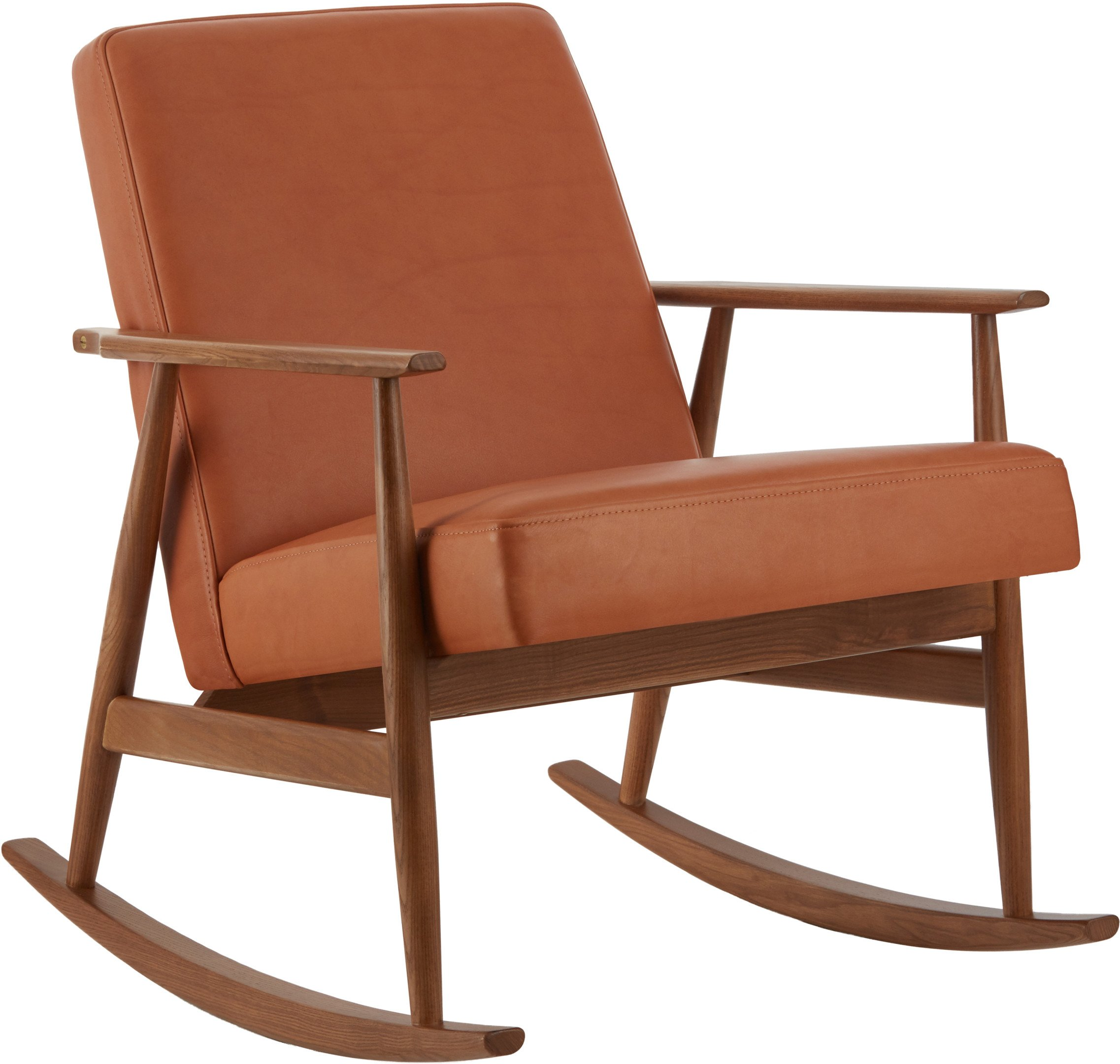 Fox Rocking Chair Natural Leather Cognac (dark ash), 366 Concept