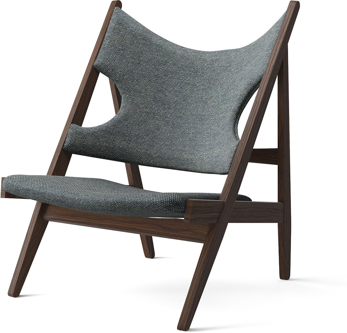 Knitting Lounge Chair Dark Stained Oak/ Graphite by Ib Kofod-Larsen Design, Menu