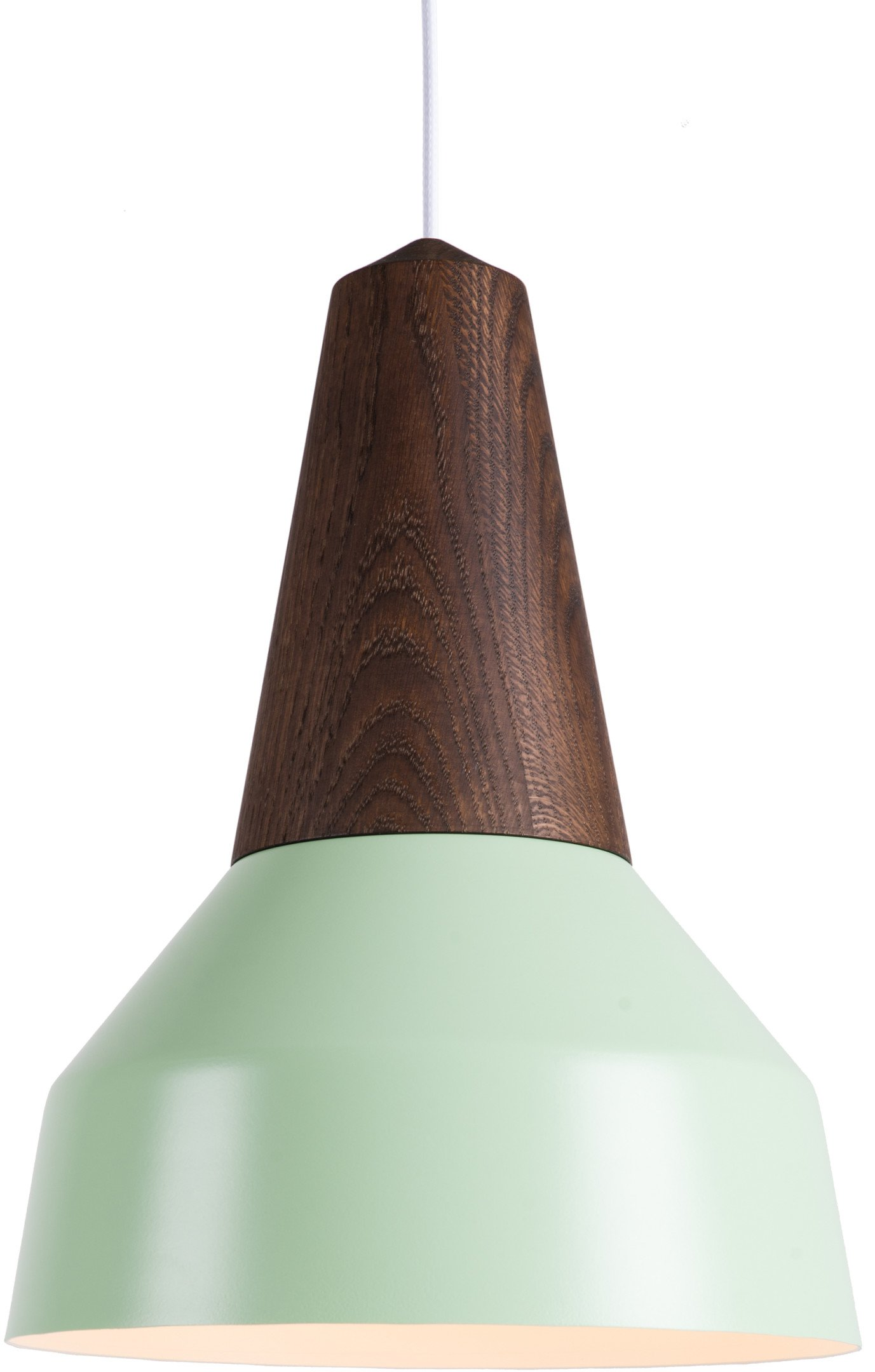 Eikon Basic Pendant Lamp Mint Smoked Oak by J. Jessen, N. Jessen for Schneid, Germany