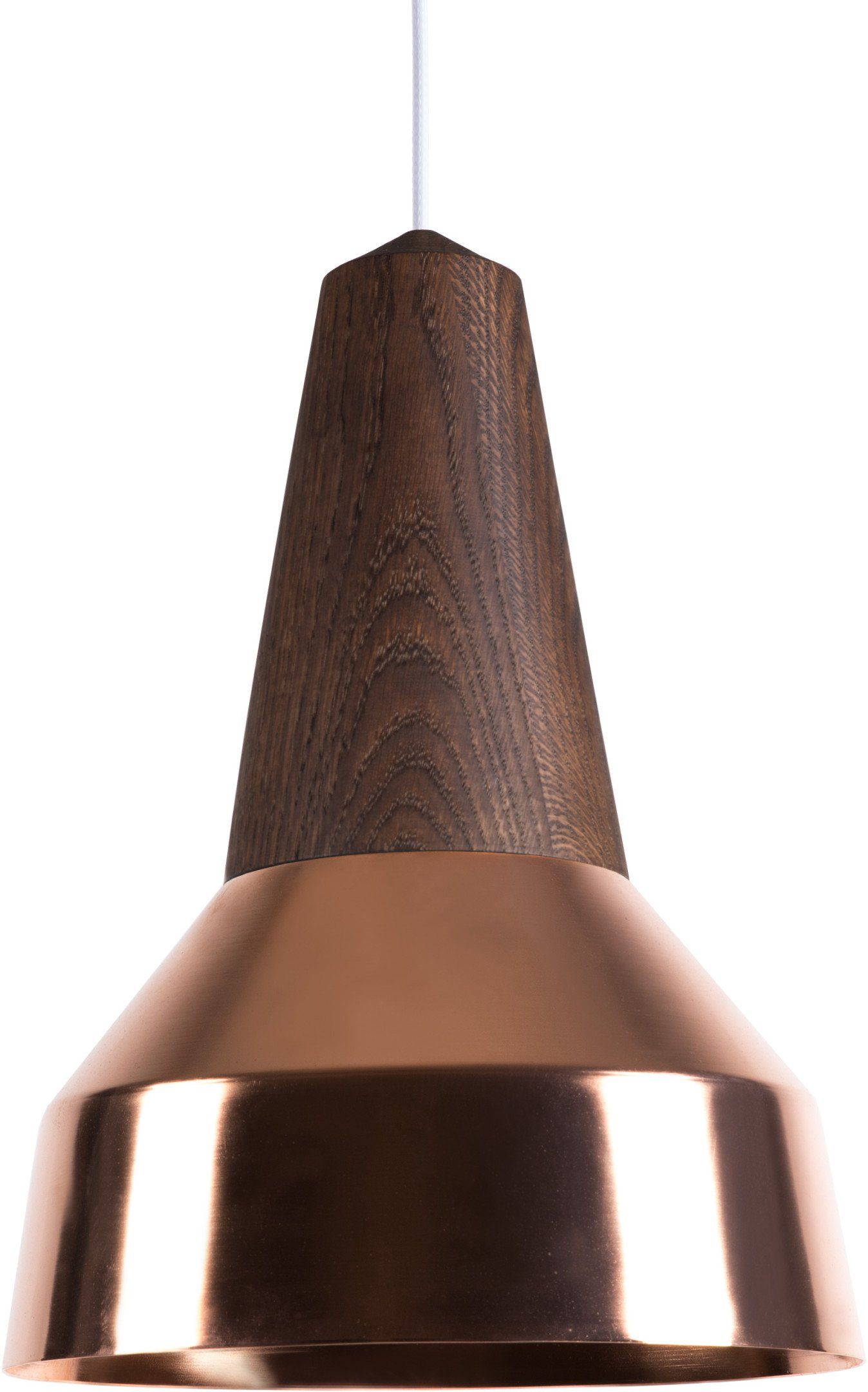 Eikon Ray Pendant Lamp Copper Smoked Oak by J. Jessen, N. Jessen for Schneid, Germany
