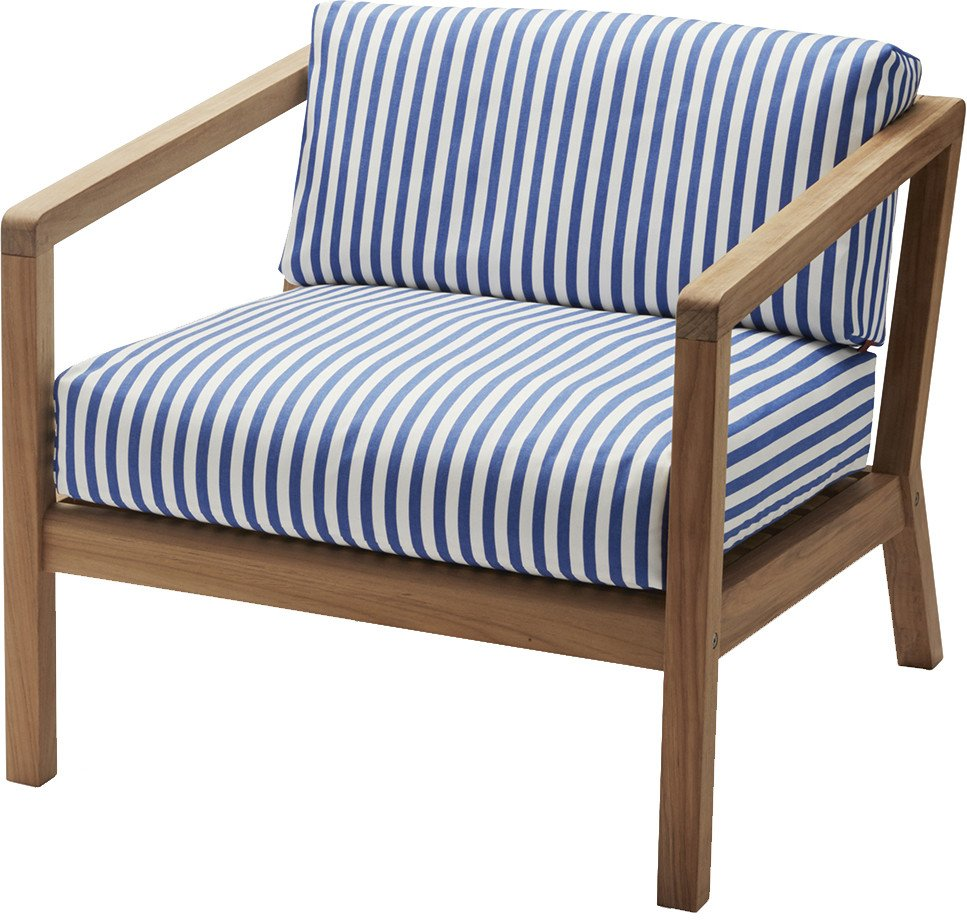 Virkelyst Chair White Blue by Says Who, Skagerak