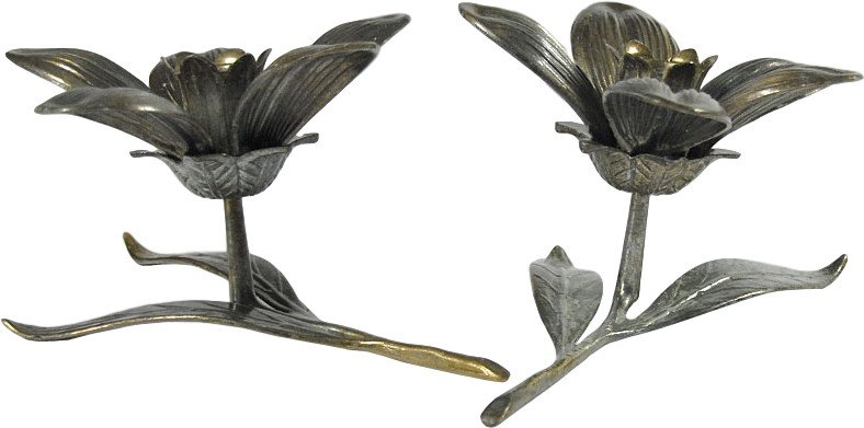 Pair of Candleholders, 1960s