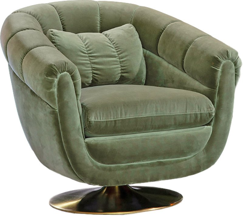 Glodis Lounge Chair Green, Dutch Bone